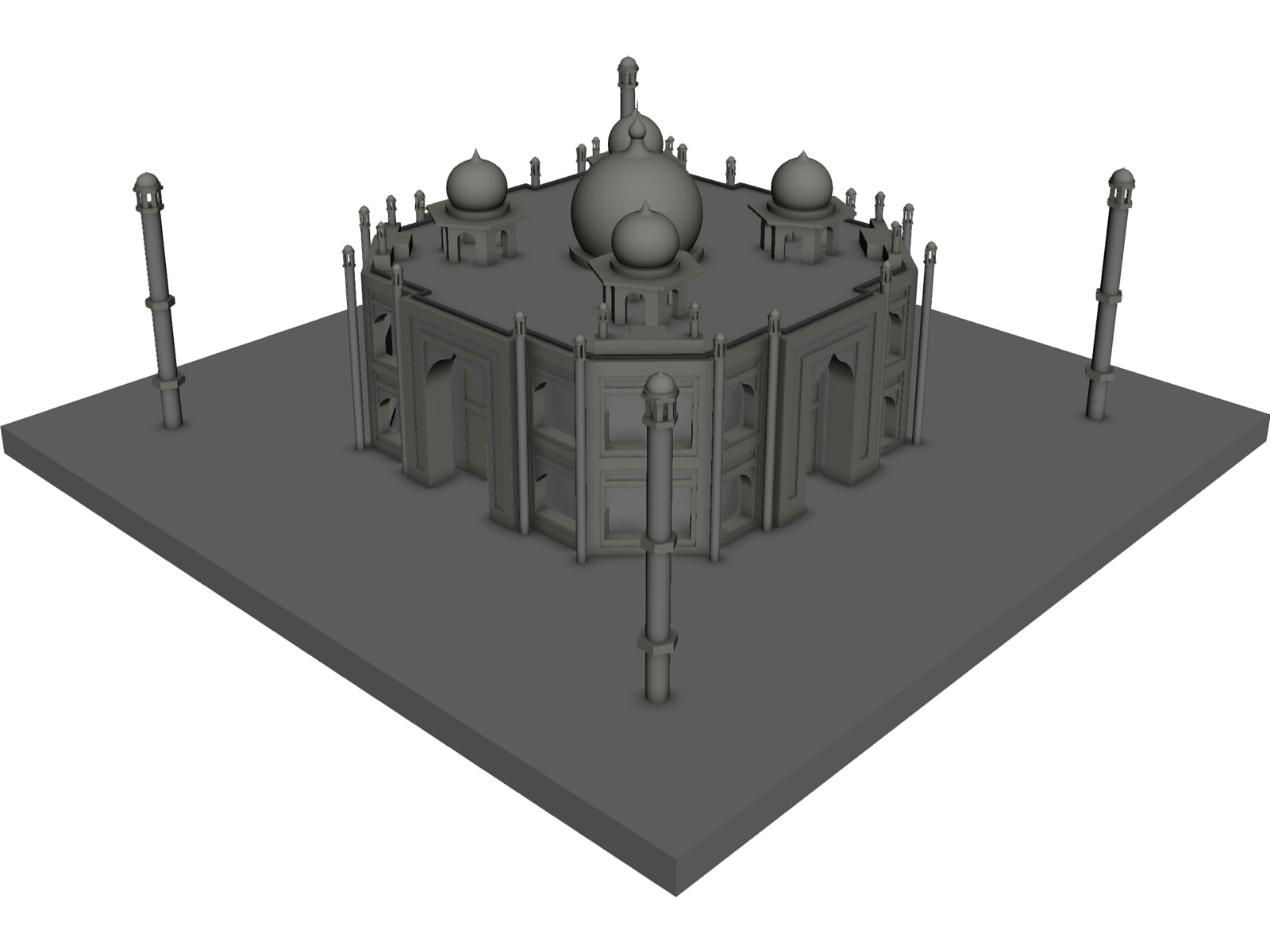Taj Mahal 3d Cad Model Download 3d Cad Browser