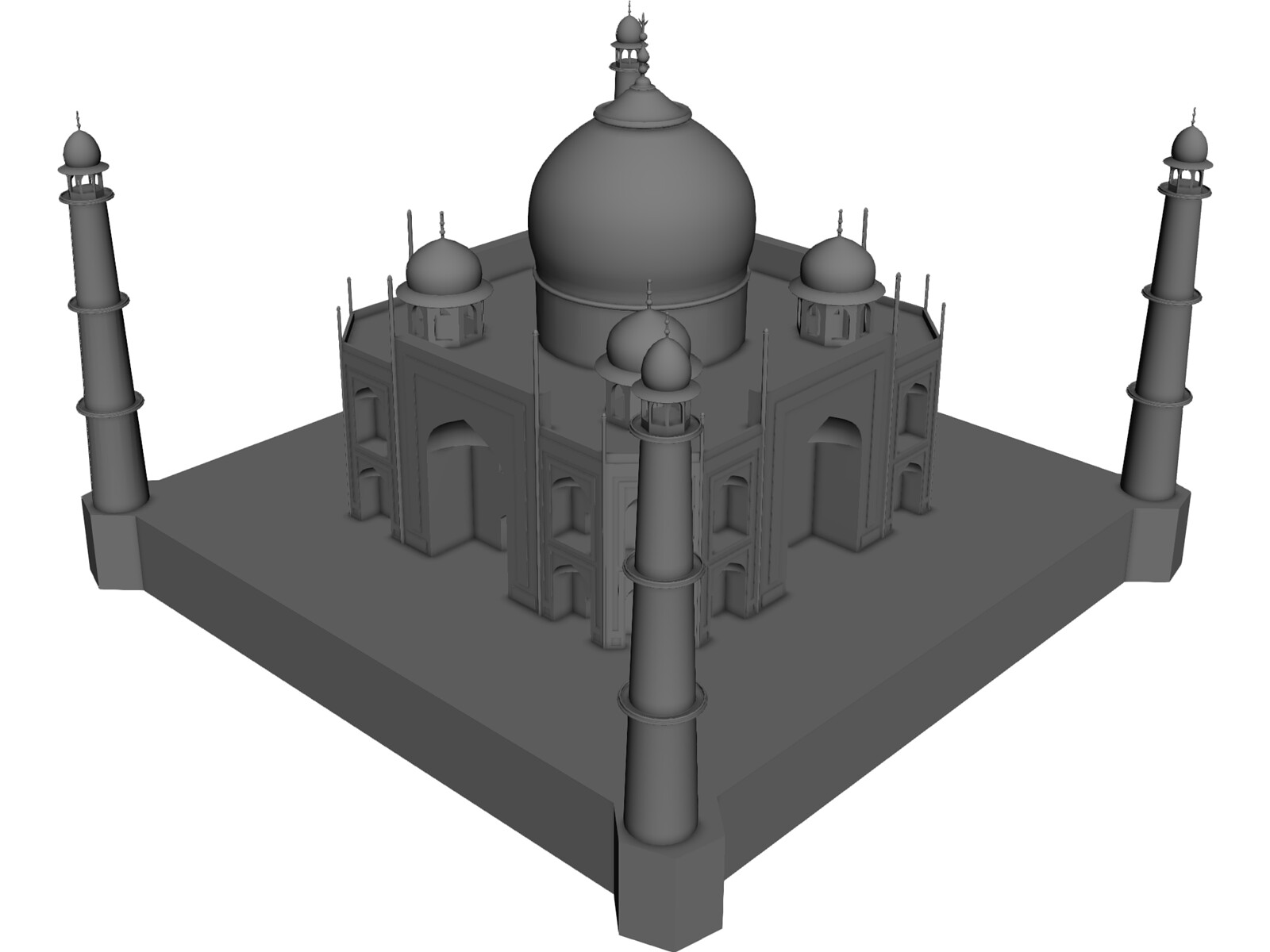 Taj Mahal 3D CAD Model