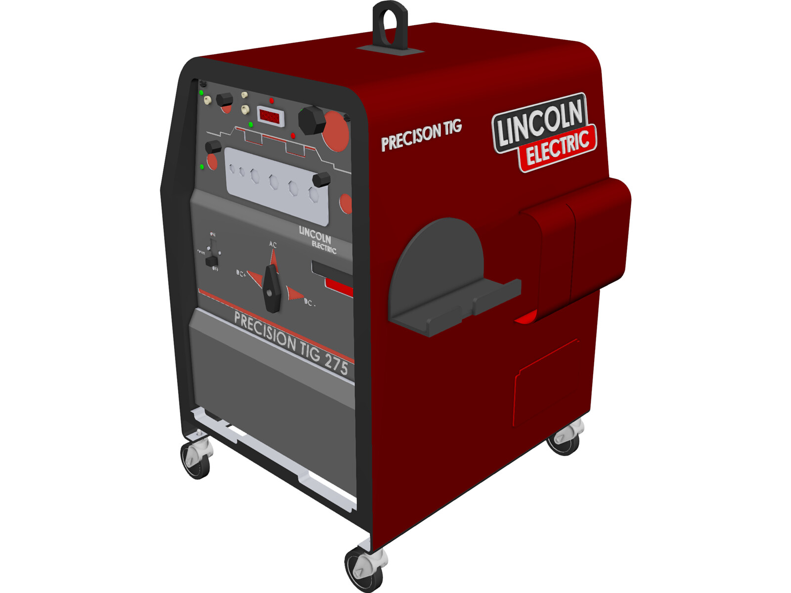 welding machine lincoln electric precision tig 275 3d model