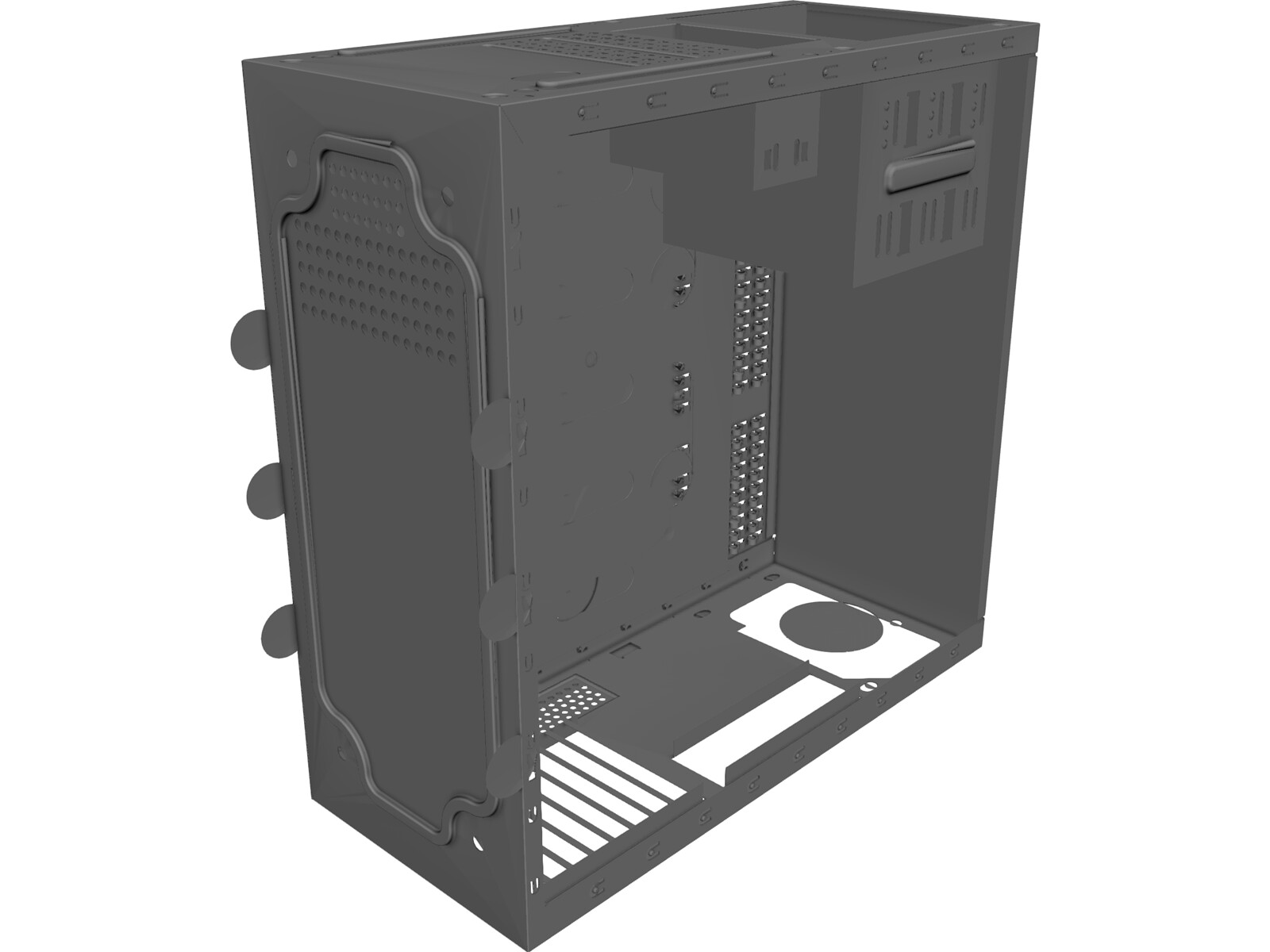 Computer Tower Case 3D CAD Model