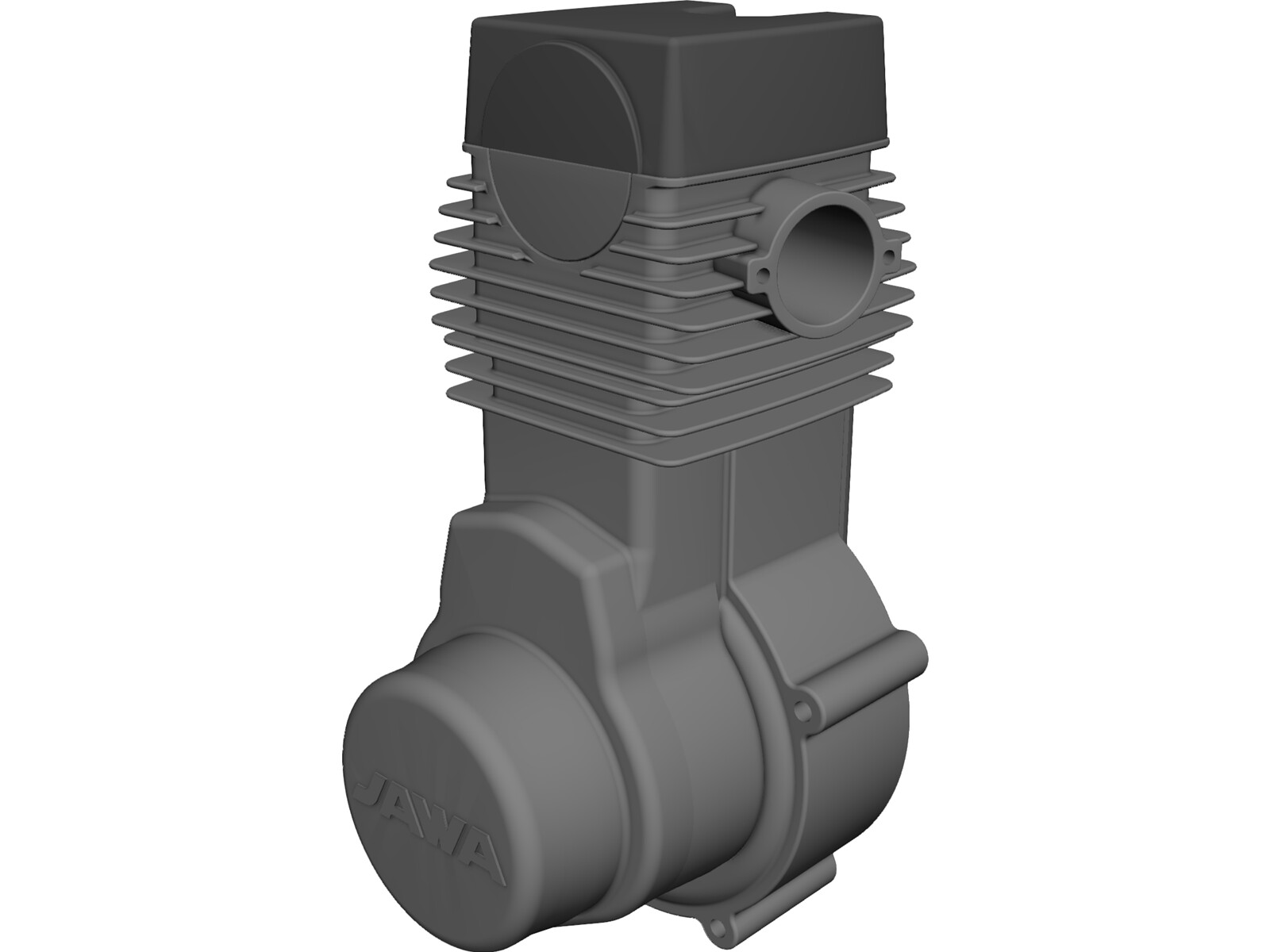 Jawa 500CC Engine 3D CAD Model