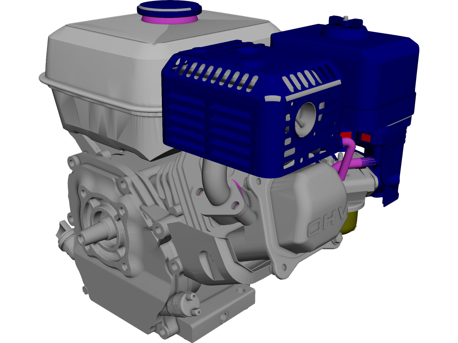 Honda GX160-1 Engine 3D CAD Model