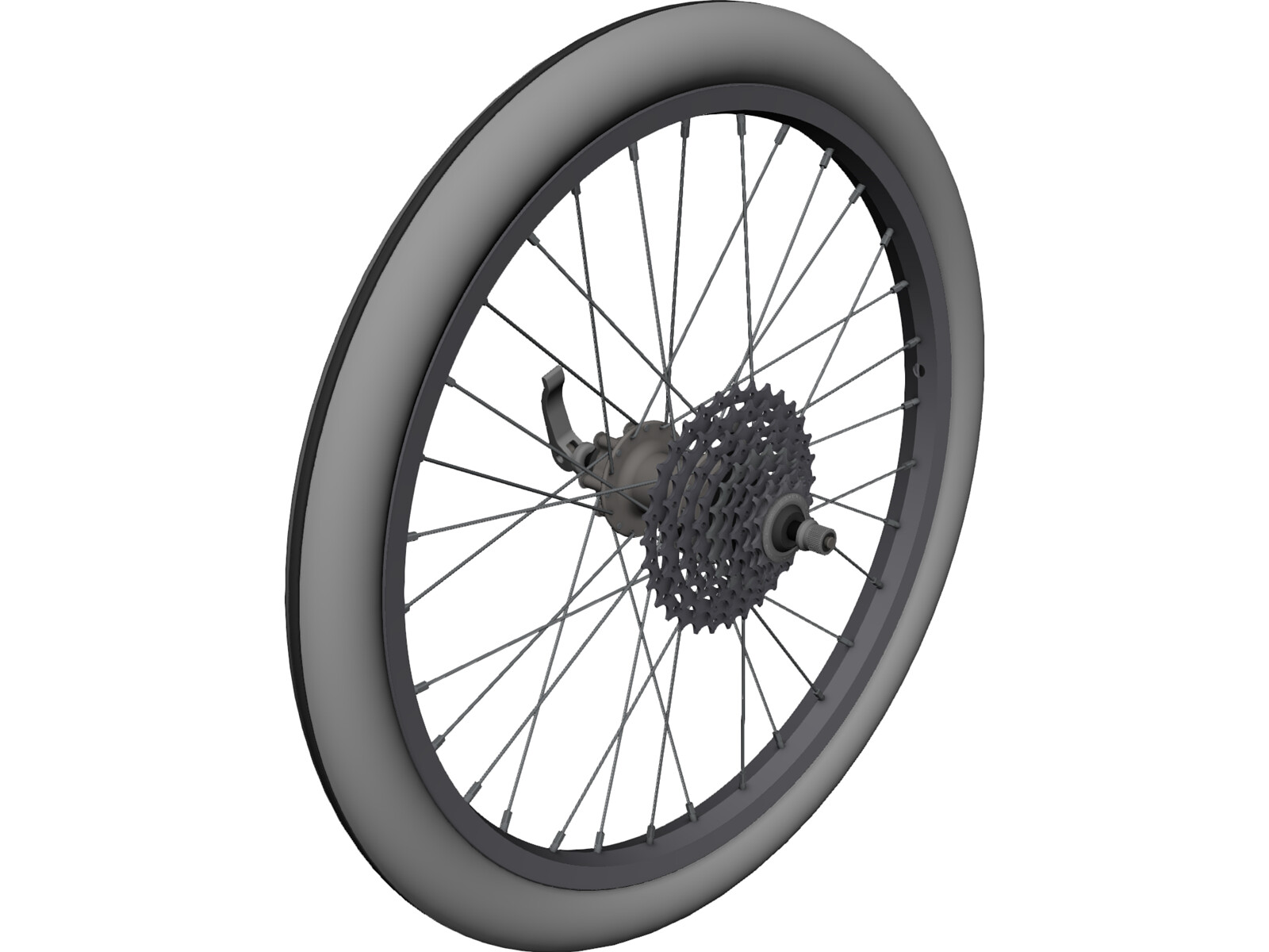 Bike Rear Wheel 20inch 3D Model