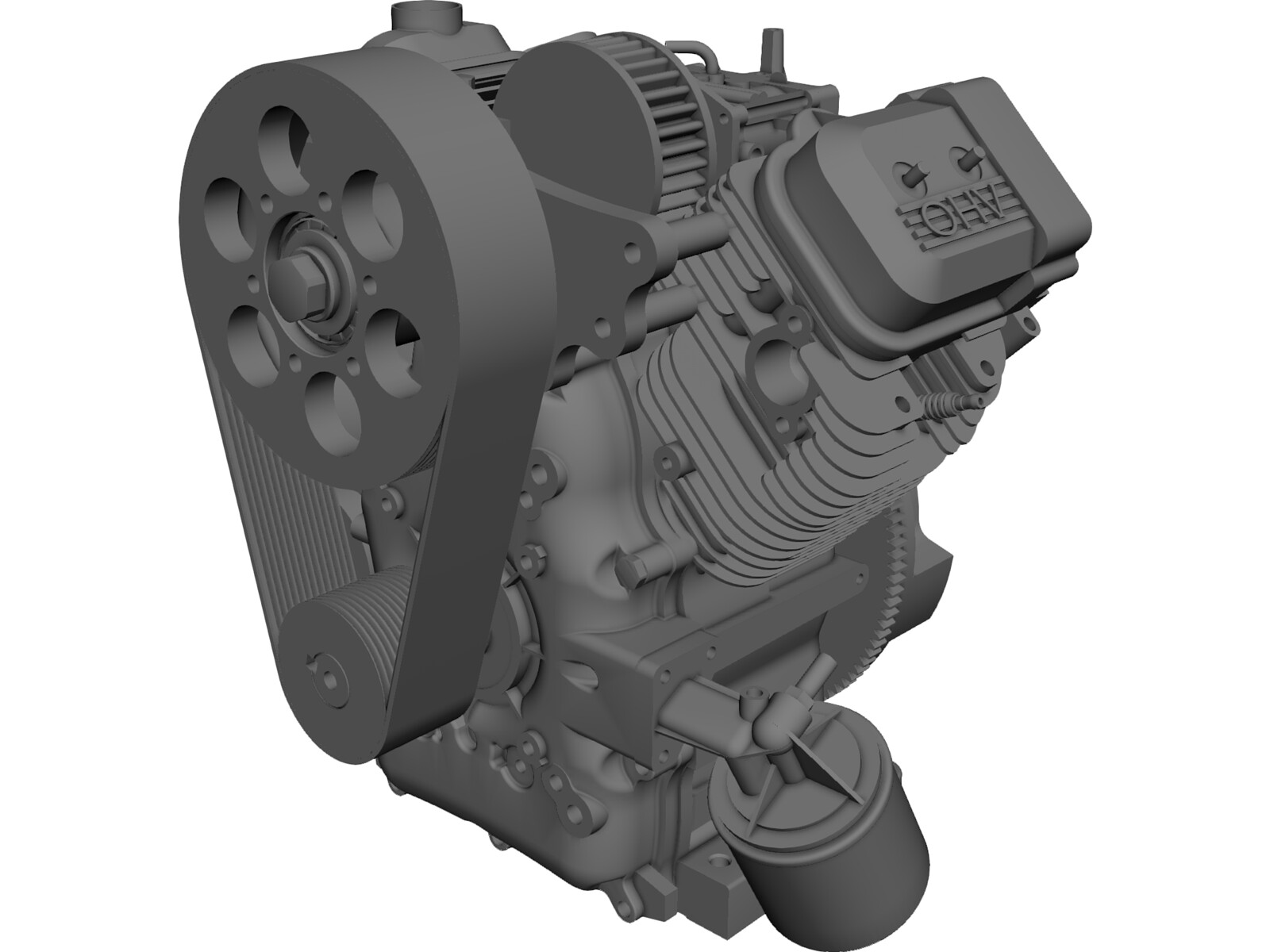 Briggs and Stratton V-Twin Vanguard Gas Engine 3D Model
