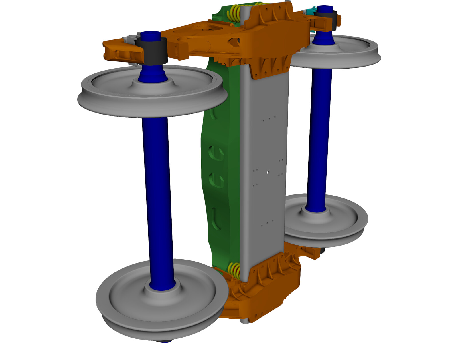 Wagon Chassis Bogie 3D CAD Model