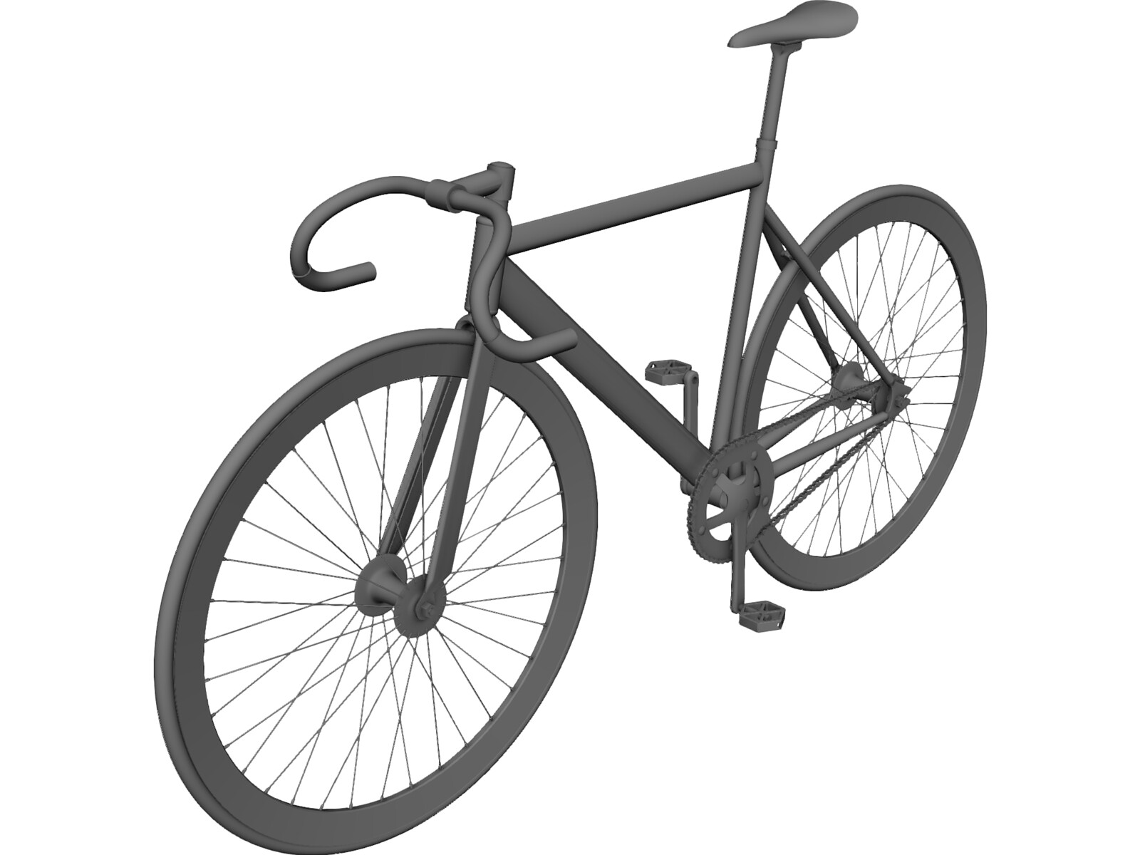 bicycle fixed gear 3d model 3d cad browser