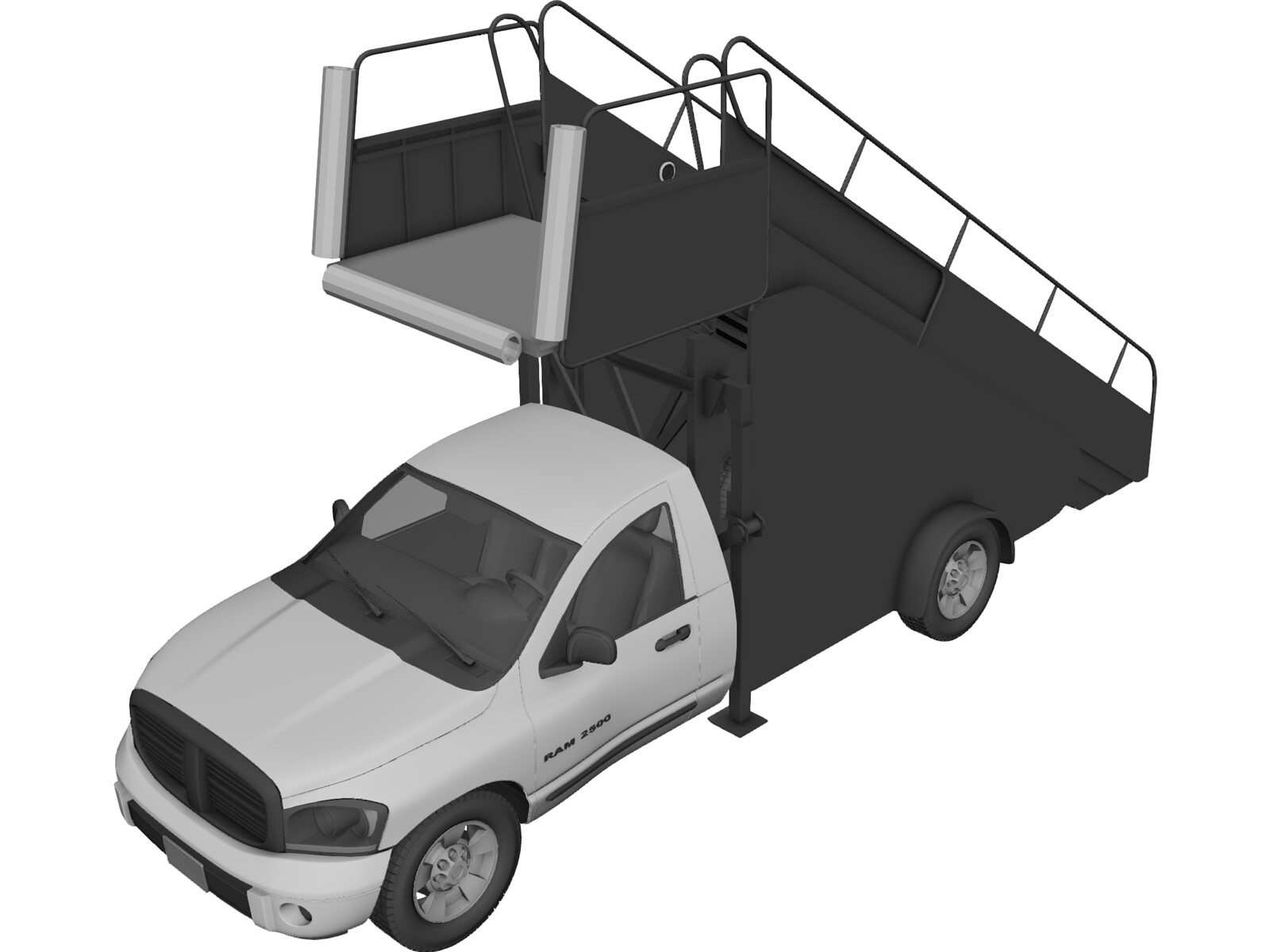 Dodge Ram 2500 Boarding Car 3D Model