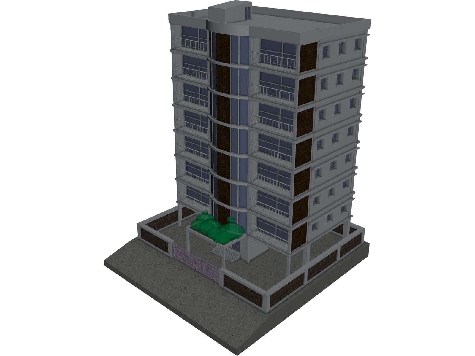 Apartment Building 3d Model 3d Cad Browser