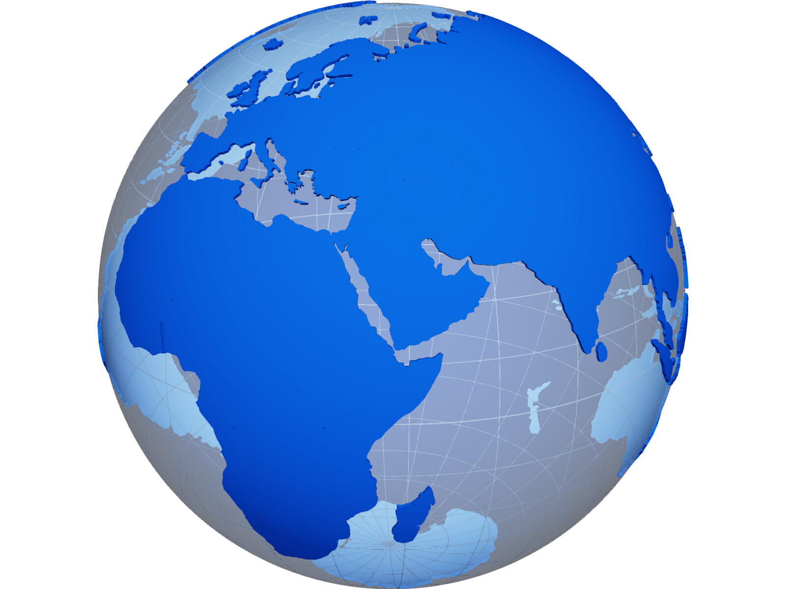 Globe map geopolitical extruded 3d model 3d cad browser globe map geopolitical extruded 3d model gumiabroncs Choice Image