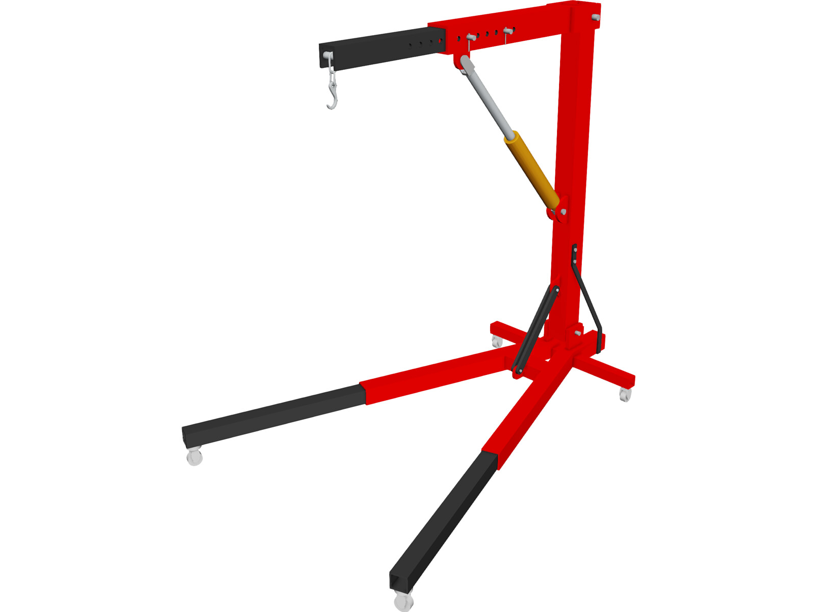 Engine Workshop Crane 3D Model