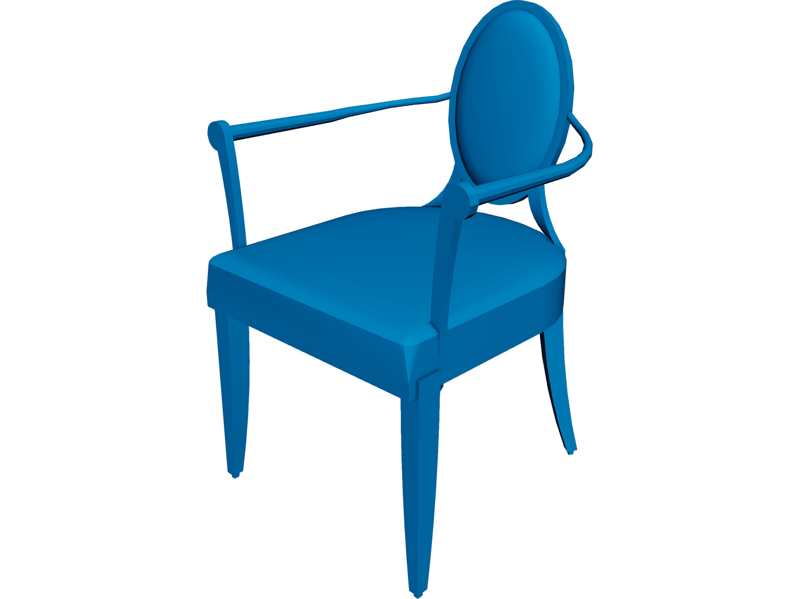 Chair barbara berry 3d model 3d cad browser for Chair 3d model maya