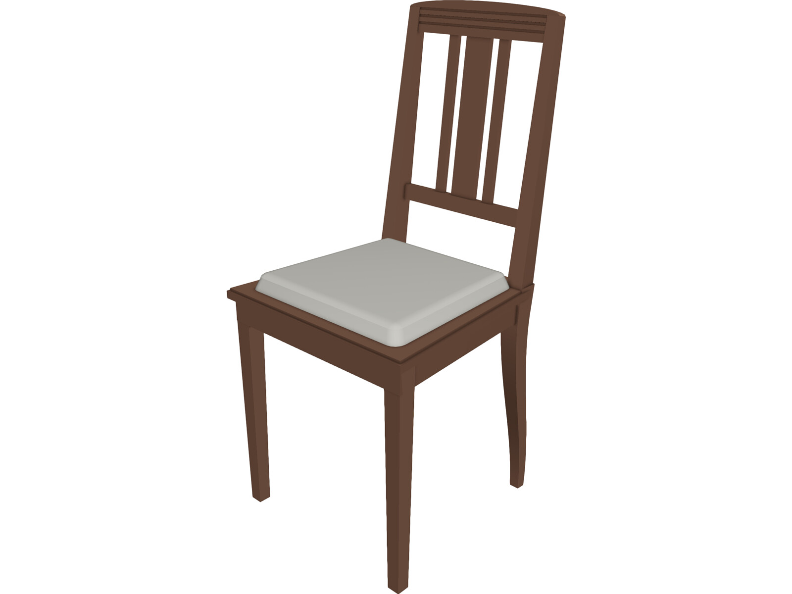 Chair wood 3d model 3d cad browser for Chair 3d model maya