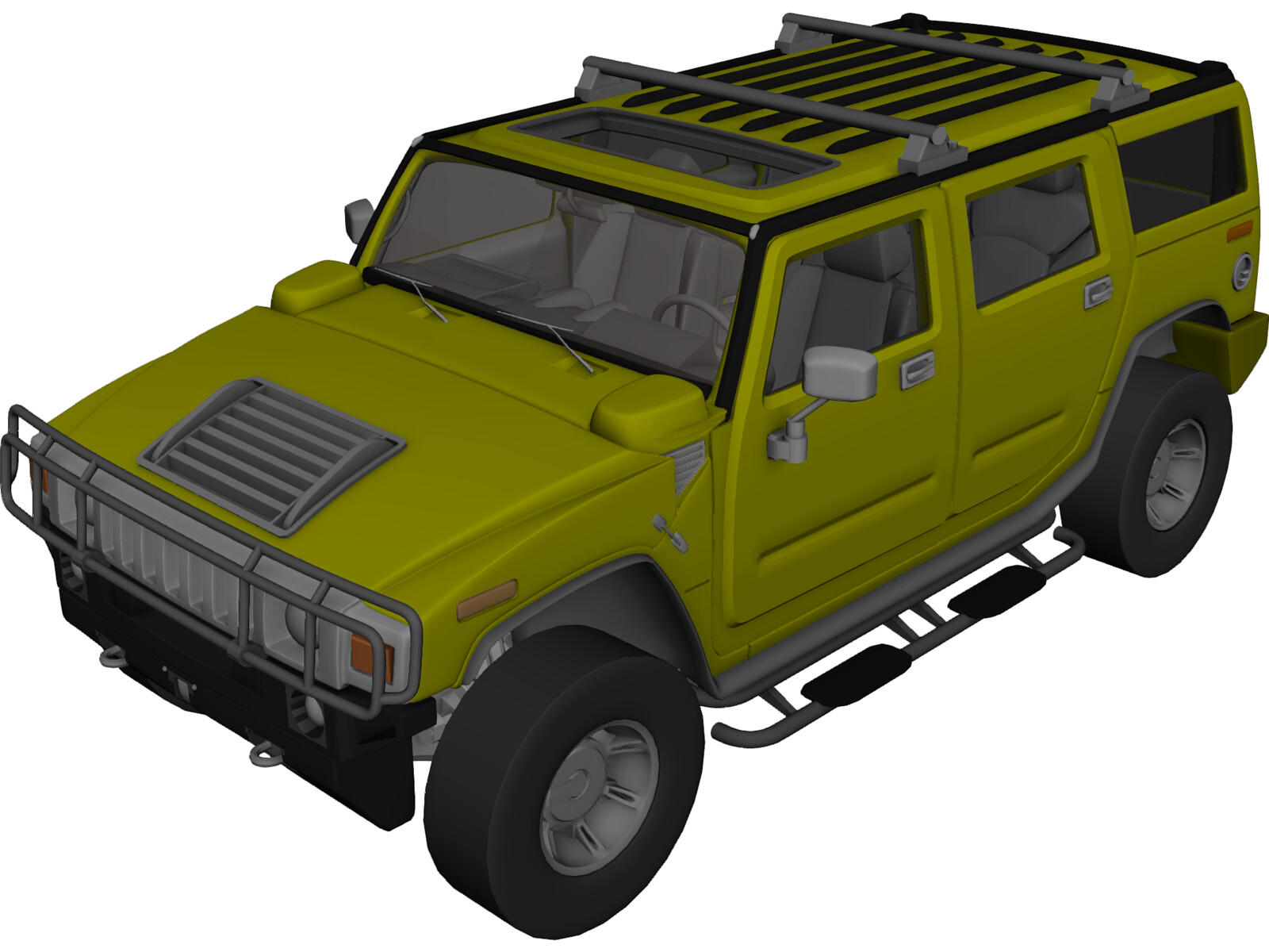Hummer H2 2003 3d Model Download Cad Browser Picture To
