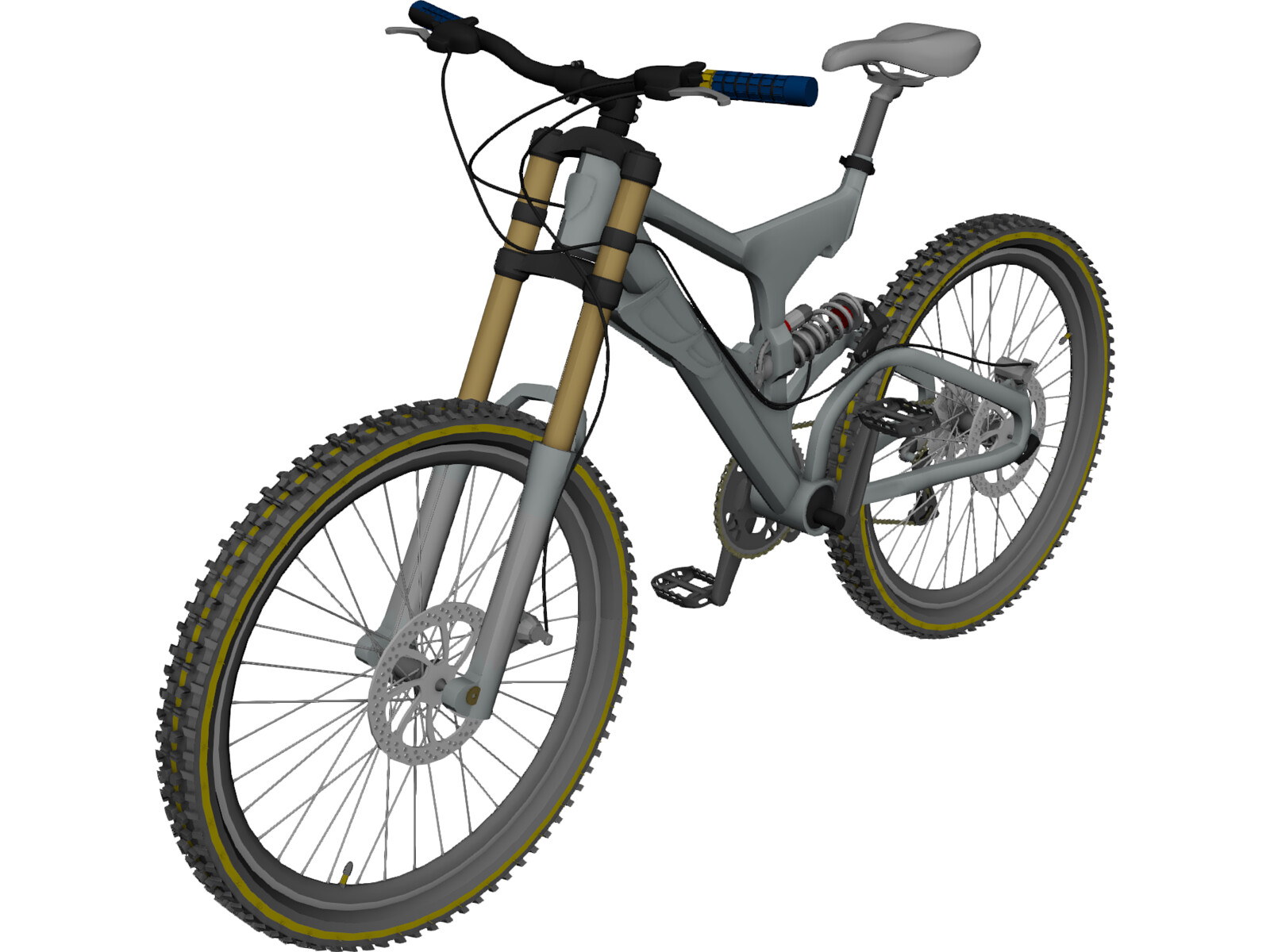 bike mountain freeride downhill 3d model 3d cad browser