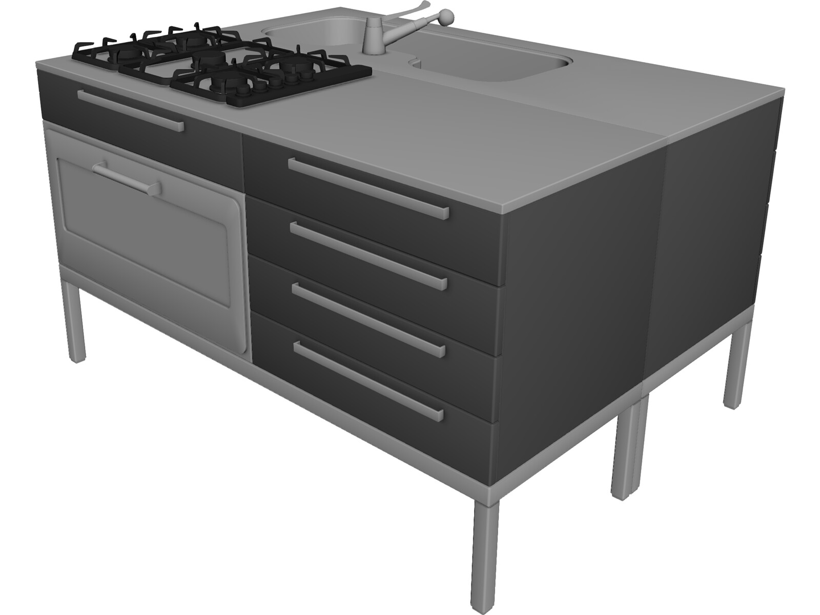Gallery of Kitchen Model Cinema 4d Picture Ideas With Kitchen Cabinet ...