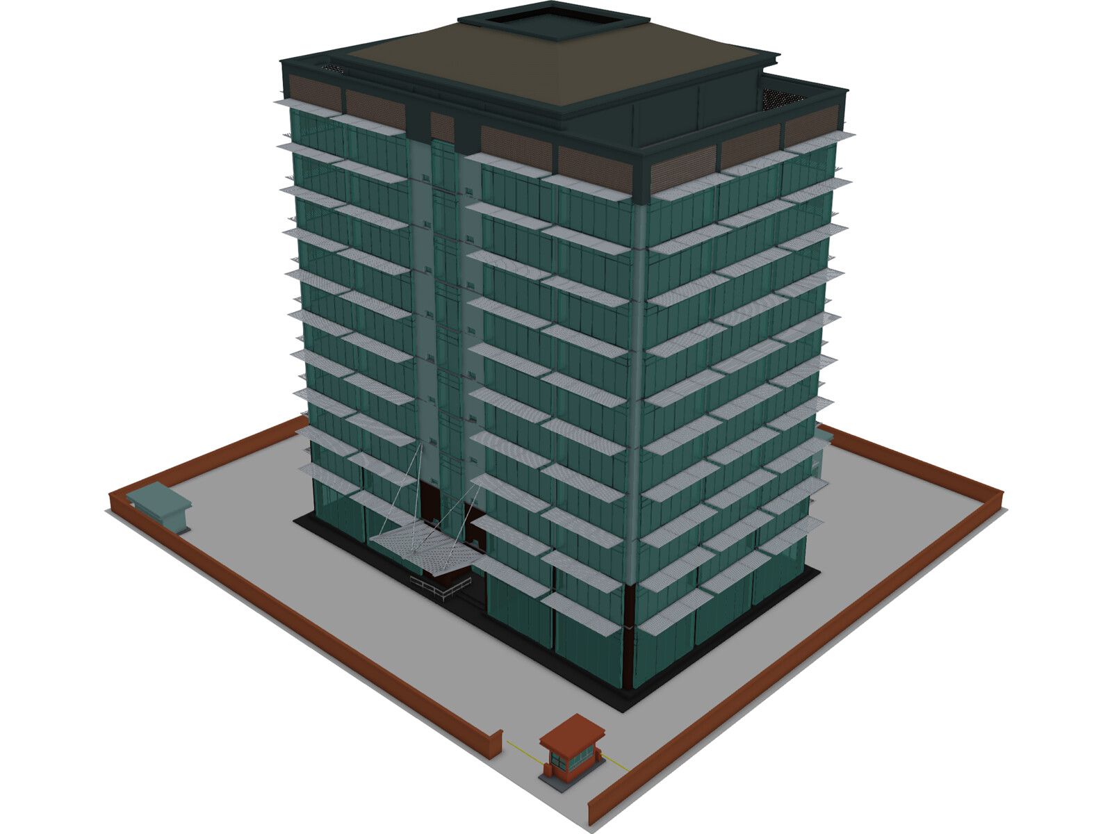Tech Office Building 3d Model 3d Cad Browser
