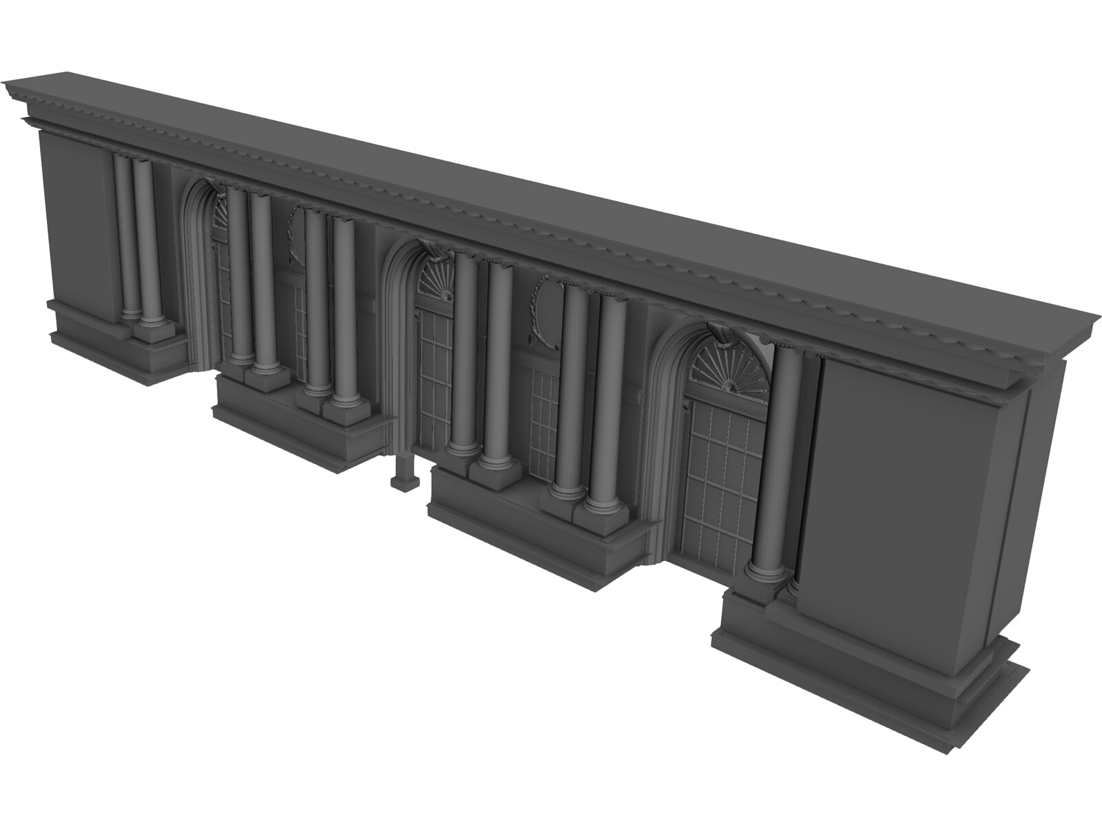 GC Station NYC Frontside 3D Model