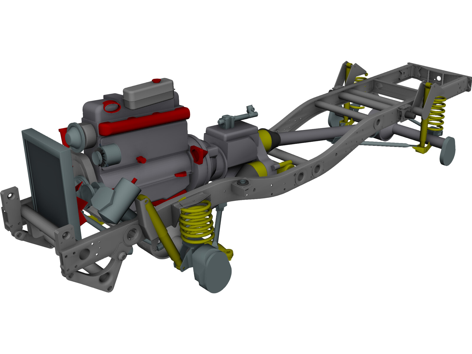 Mercedes-Benz Unimog Chassis 3D CAD Model