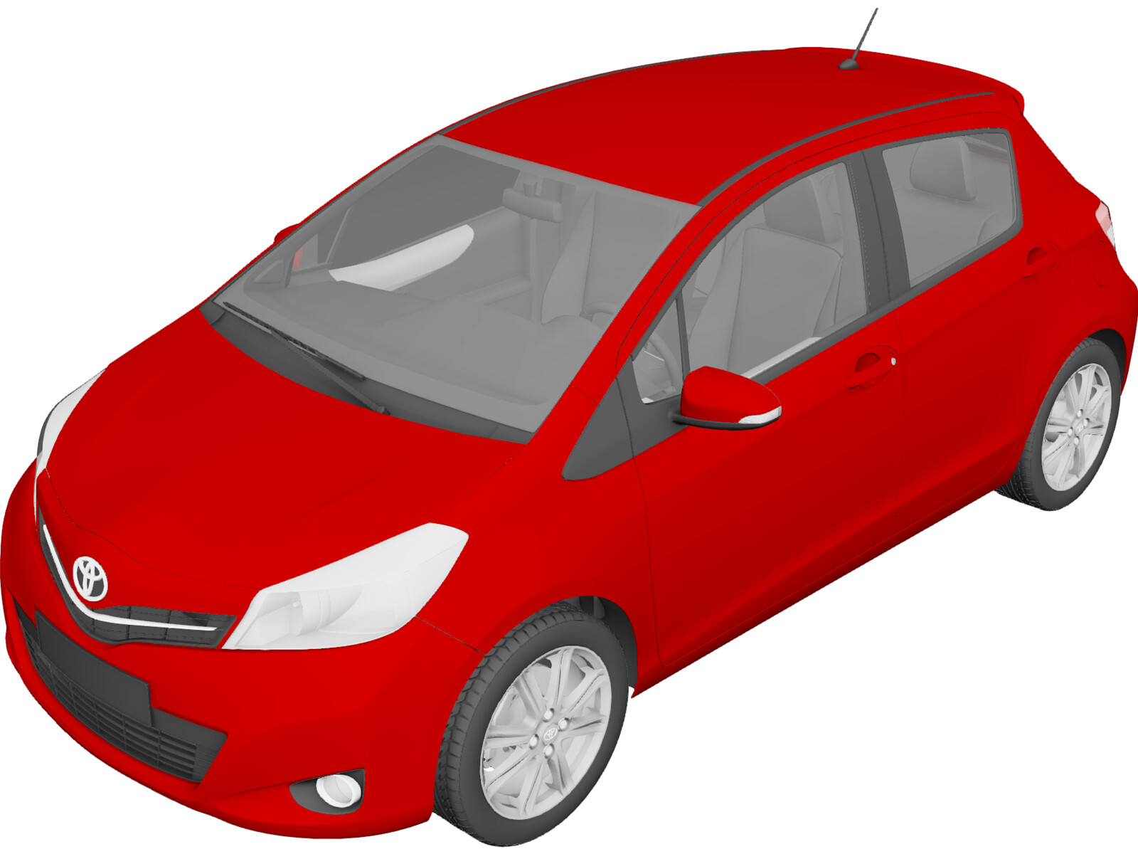 Toyota Yaris 5-door (2012) 3D Model