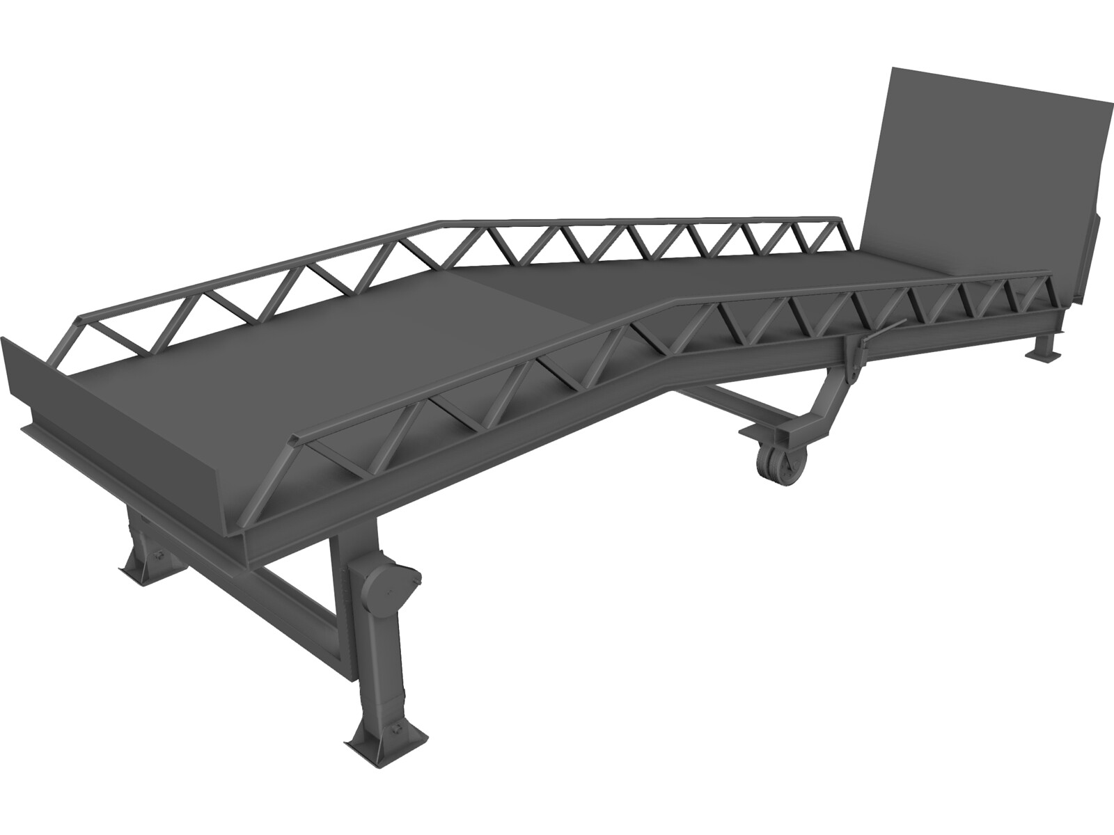 Forklift Ramp 3D Model