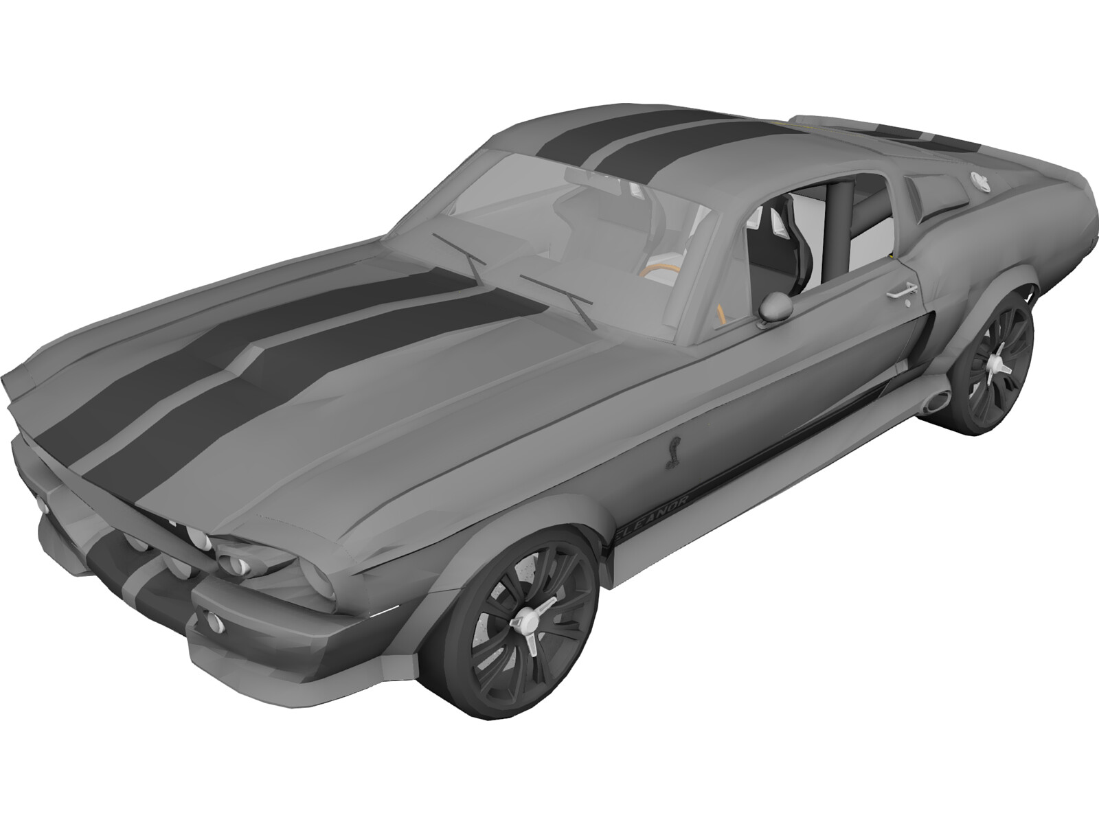 Ford Mustang Shelby Gt500 Eleanor 1967 3d Model 3d Cad