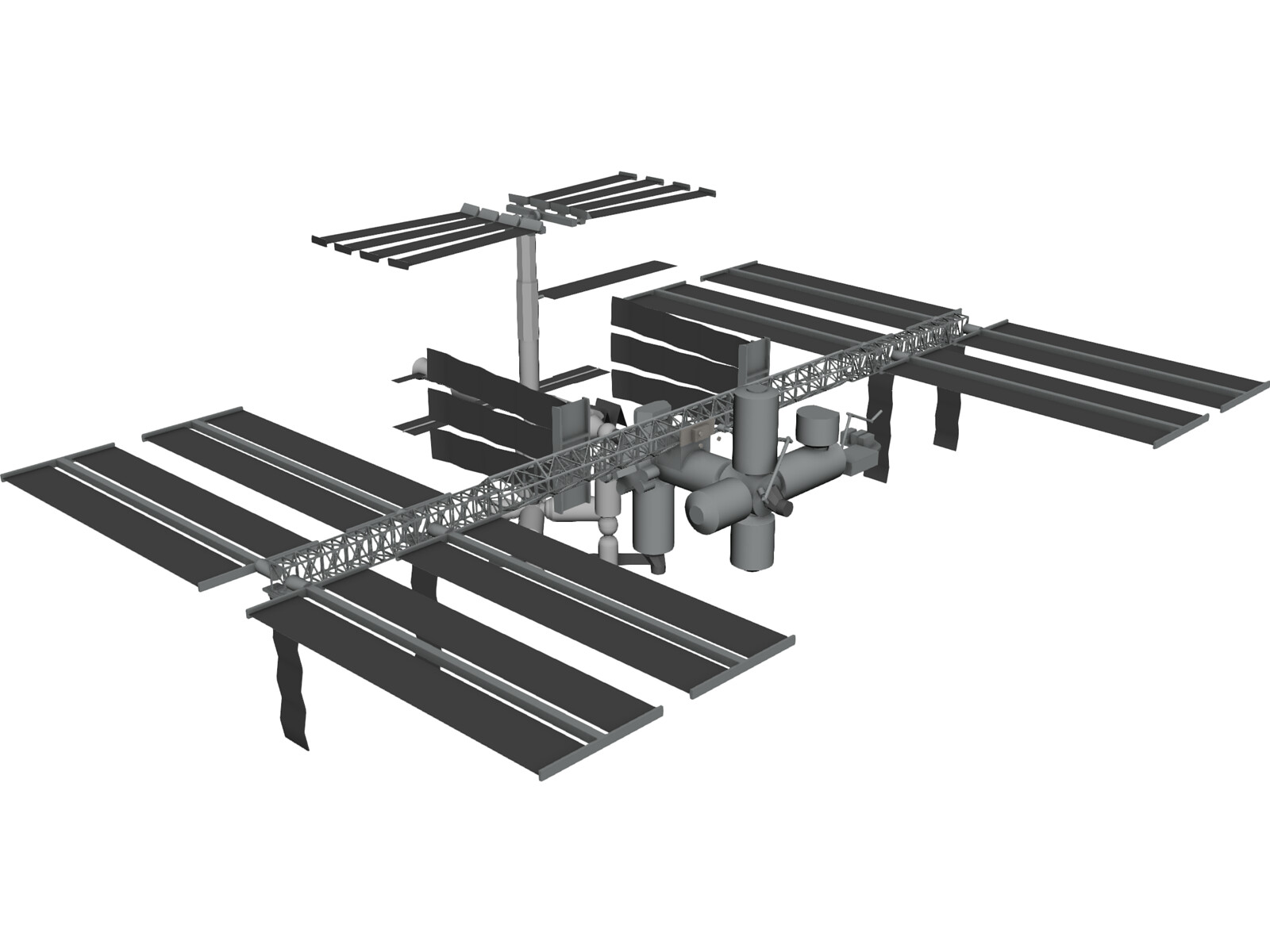 International Space Station (ISS) 3D CAD Model