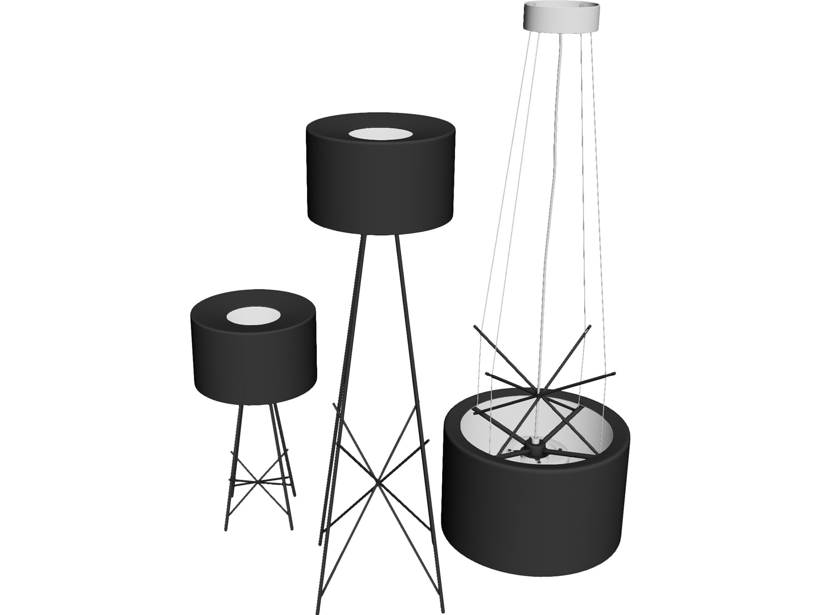 Flos Ray Lamps 3D Model