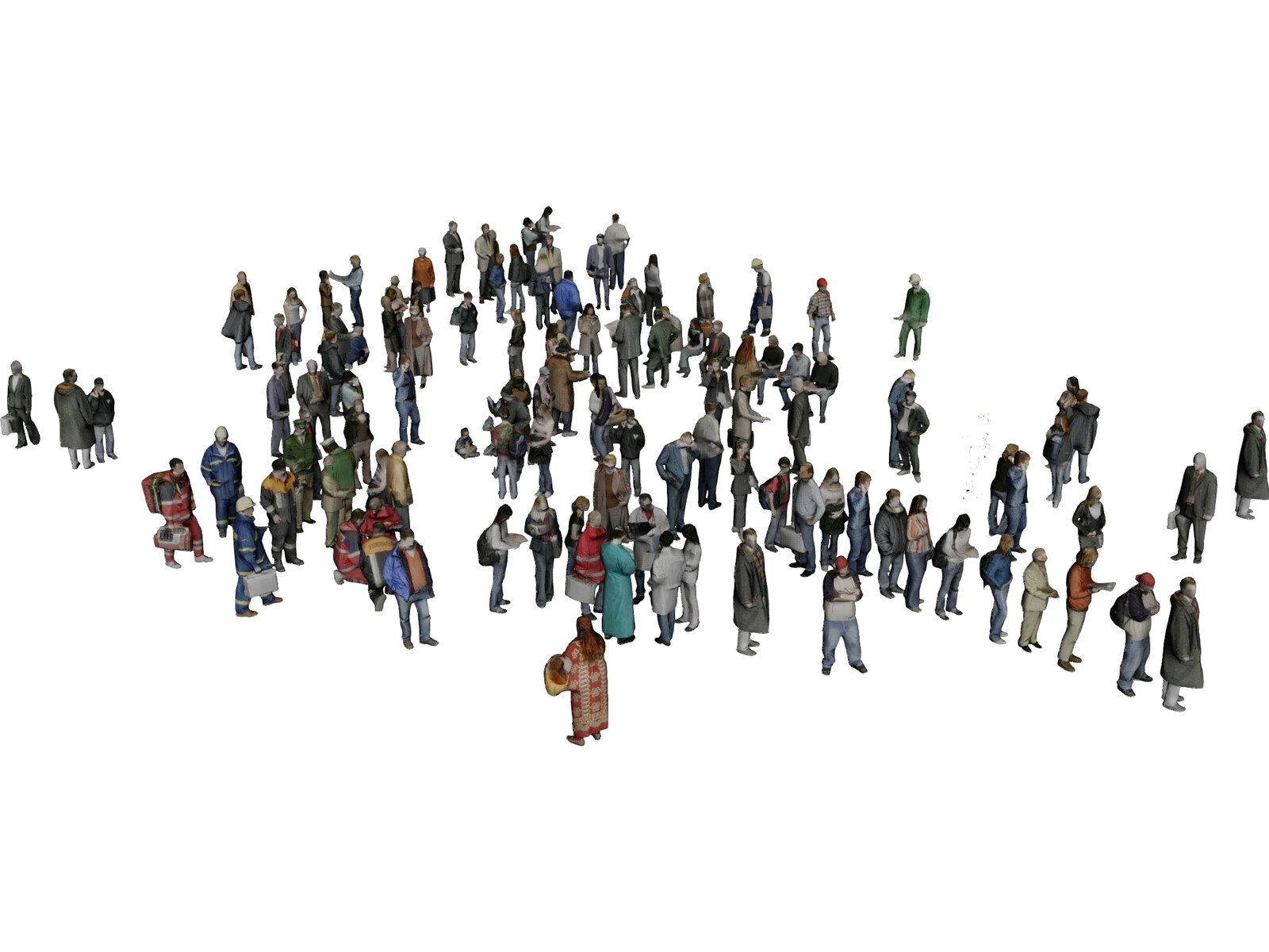 Low Poly People Collection 3D Model
