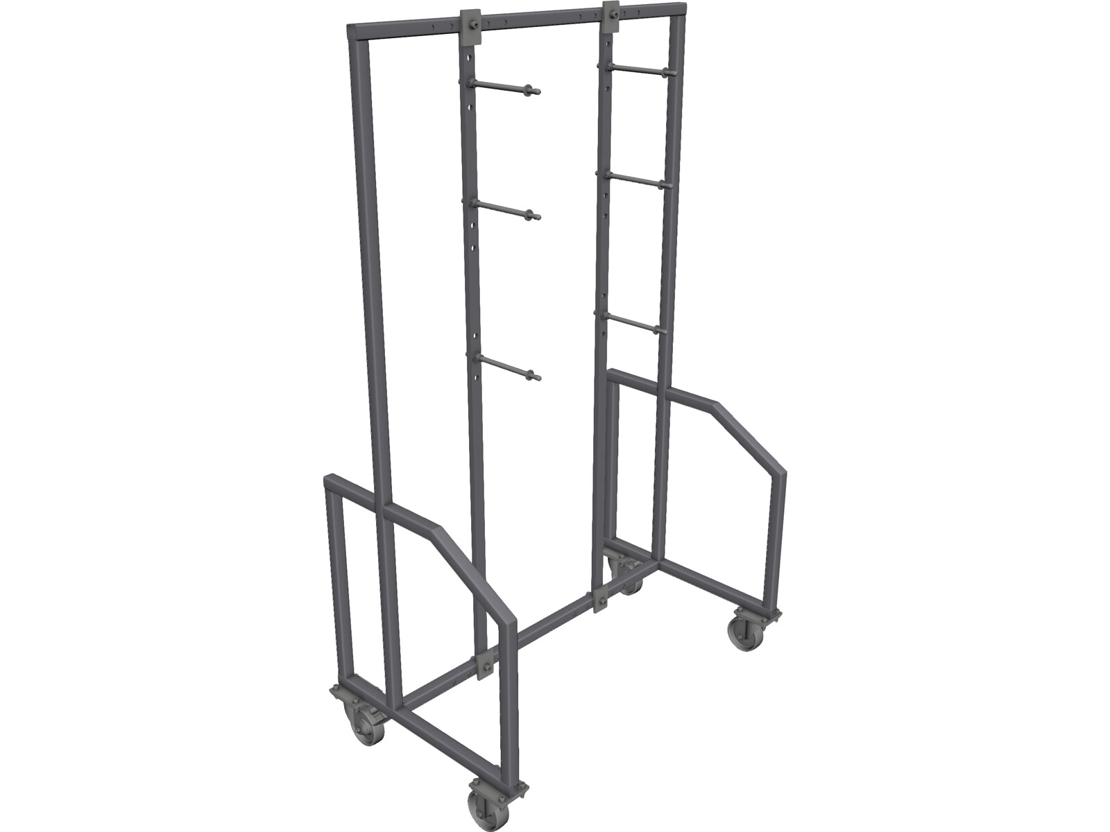 Fixture Shelve Rack 3D CAD Model