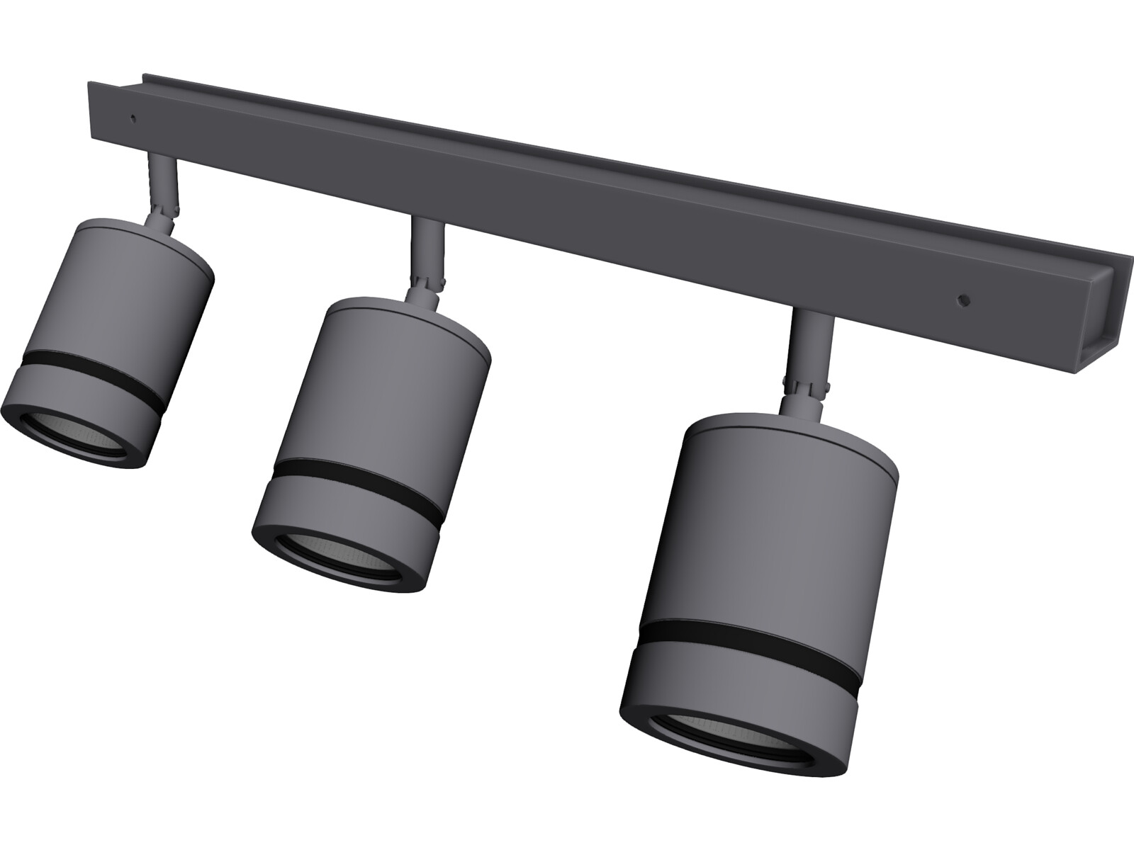 Lamps on Railing 3D Model