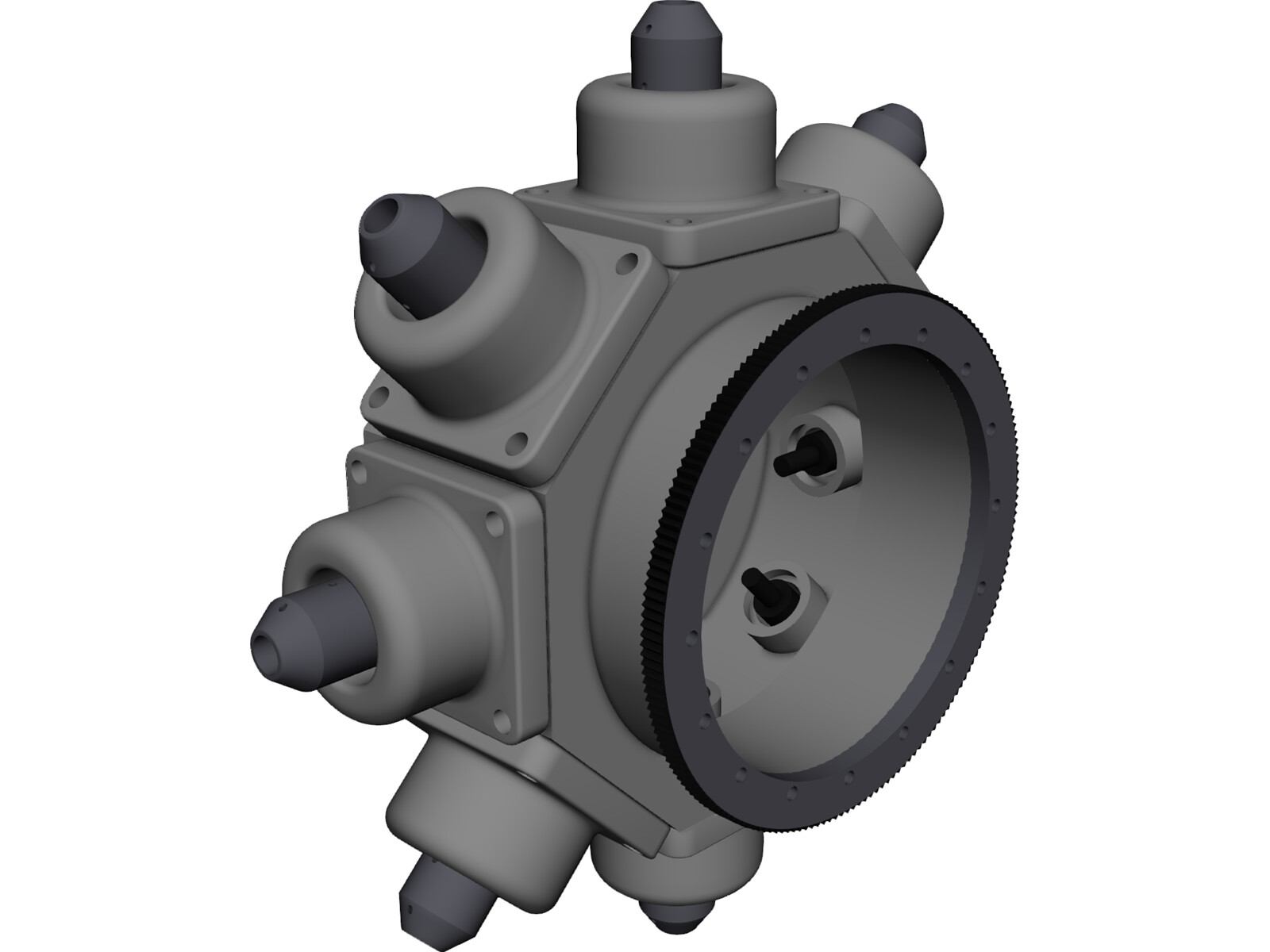 Turning Center Turret 3D CAD Model