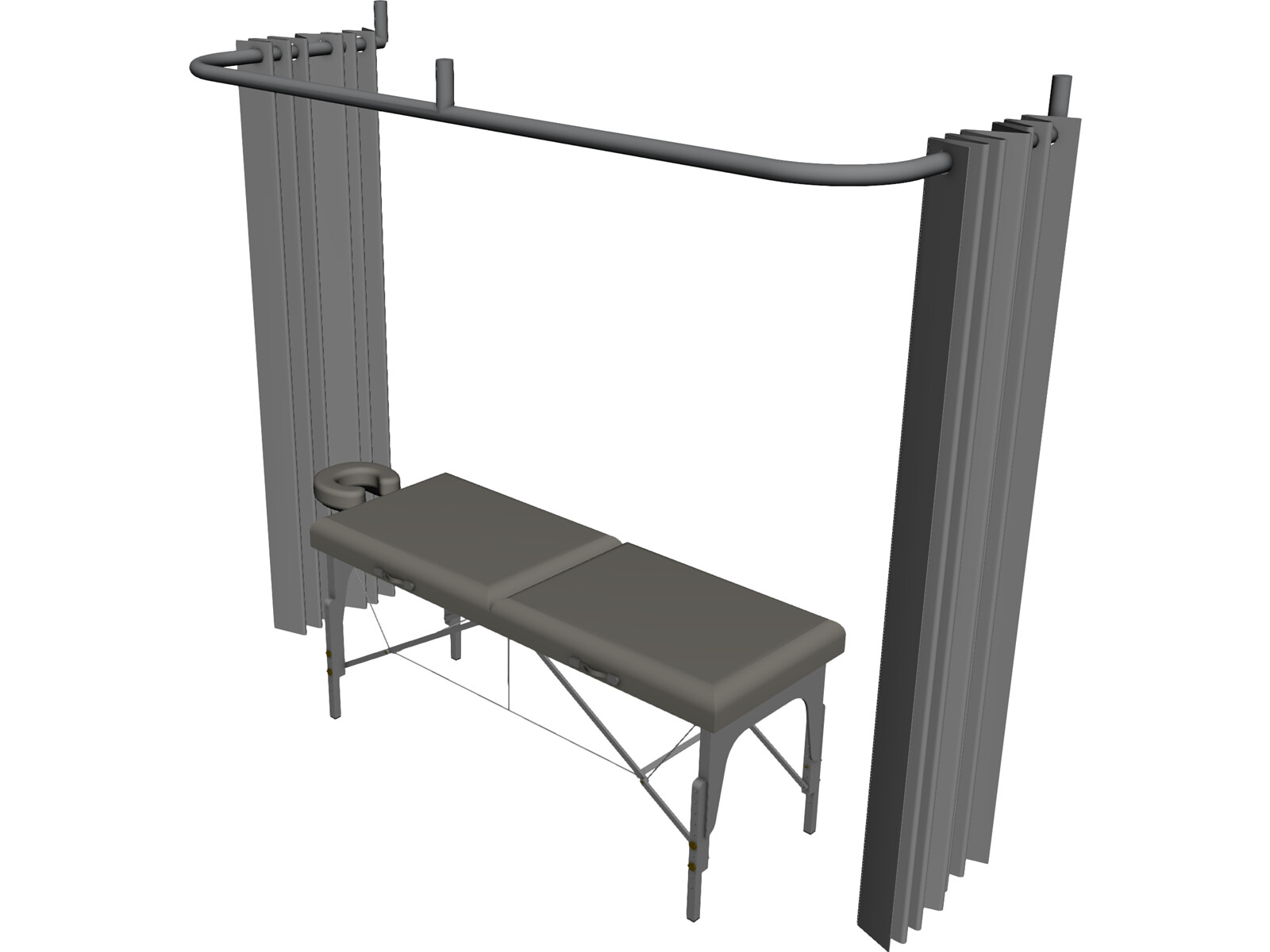 Massage Table 3D CAD Model