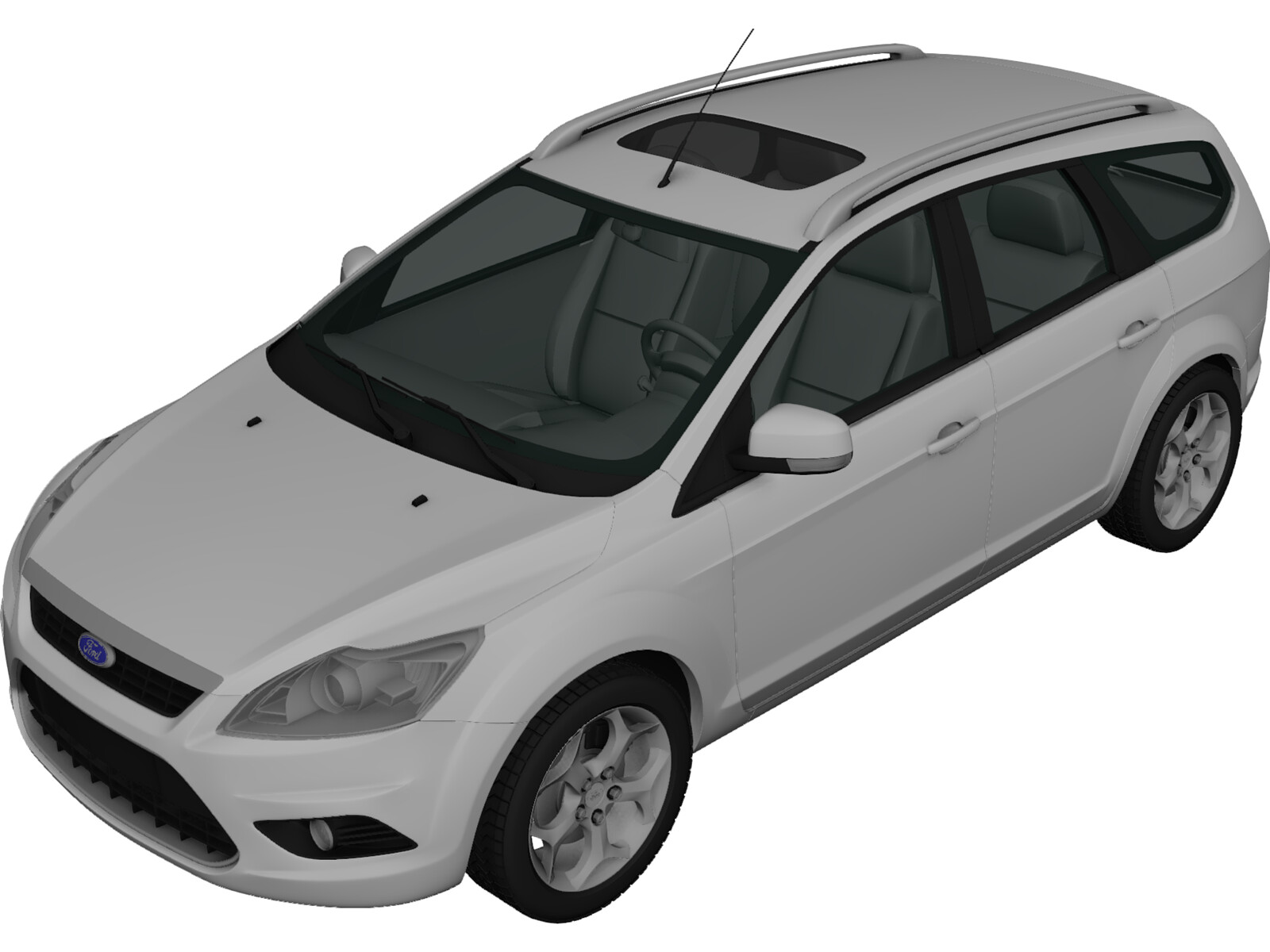 Ford Focus Station Wagon (2008) 3D Model