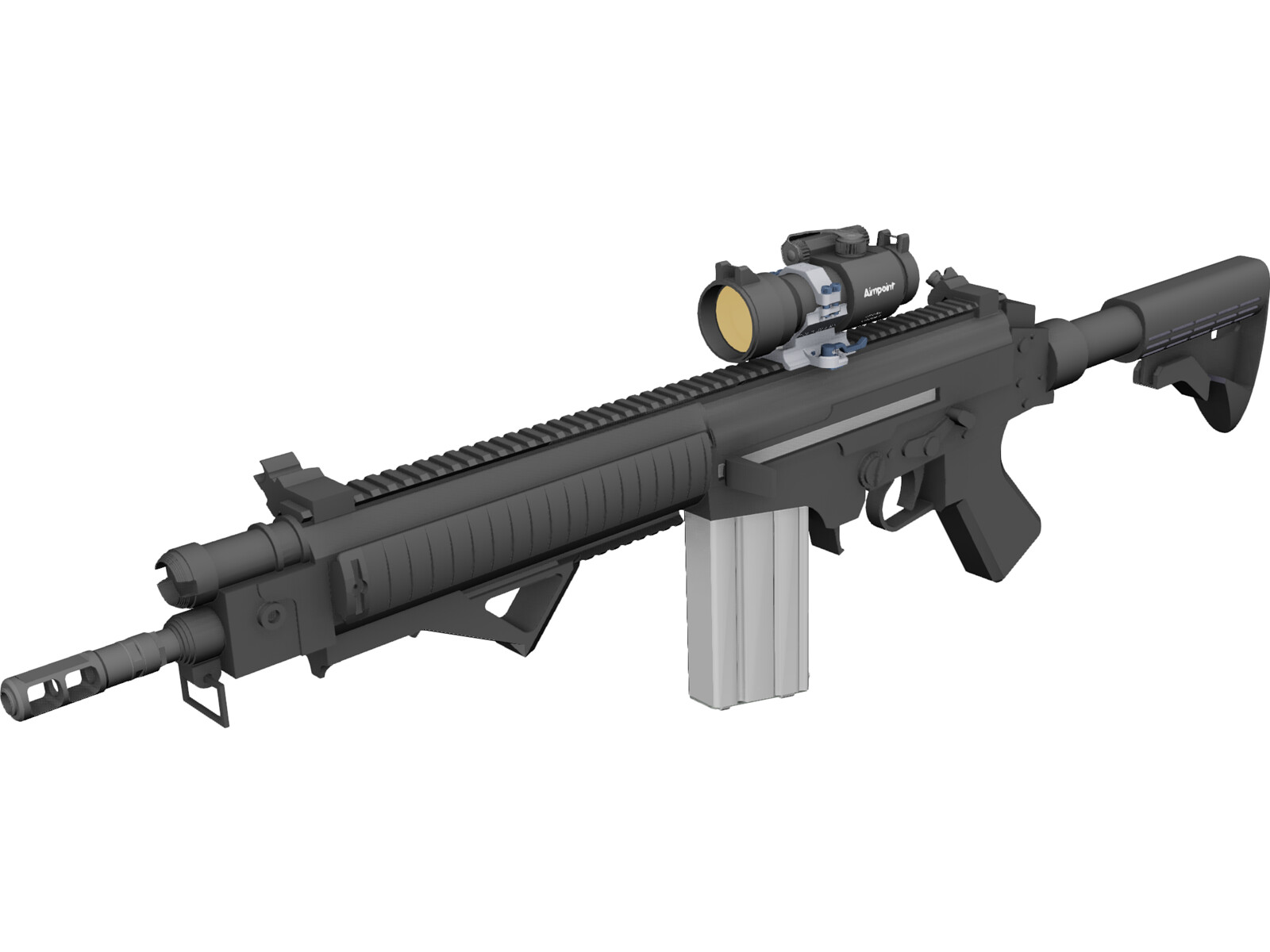FN FAL Custom Rifle with Aimpoint Scope
