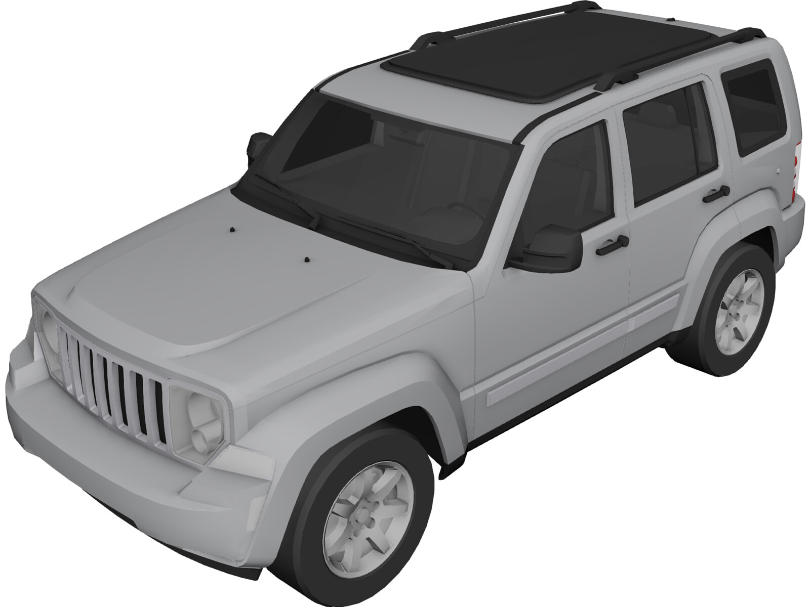 Jeep Cherokee Rubicon (2008) 3D Model