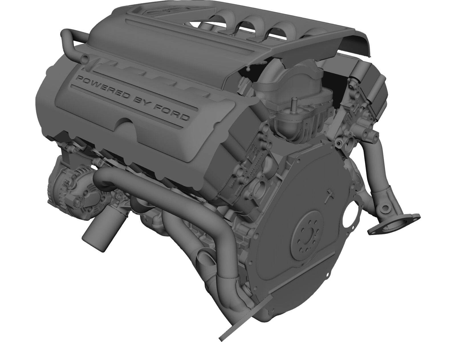 Ford 5.0 Coyote Engine 3D CAD Model