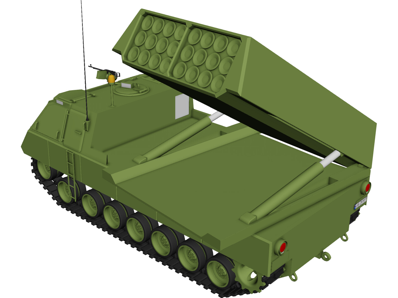 Multiple Laucher Rocket System 3D Model