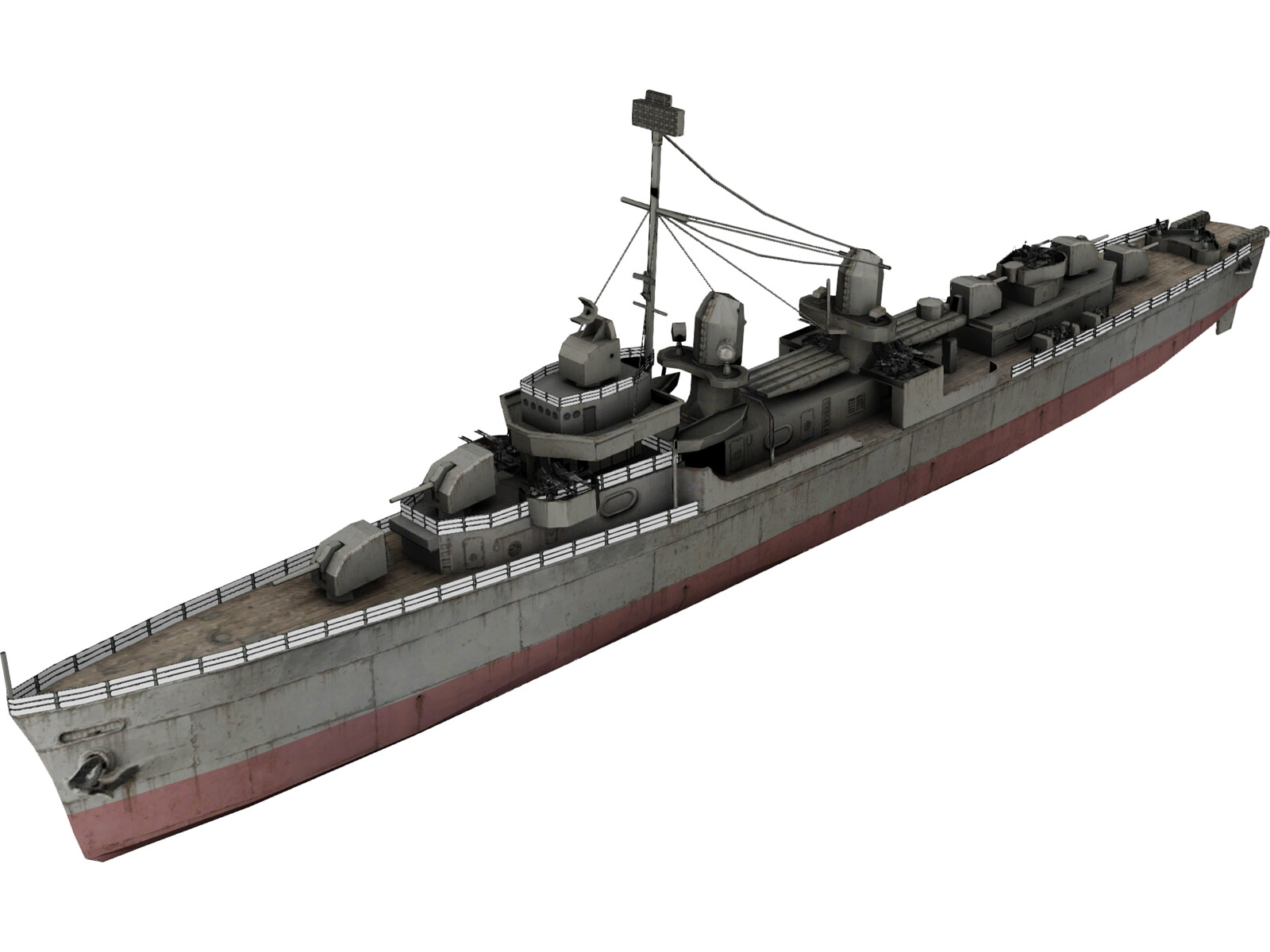 Fletcher Class Destroyer 3D Model