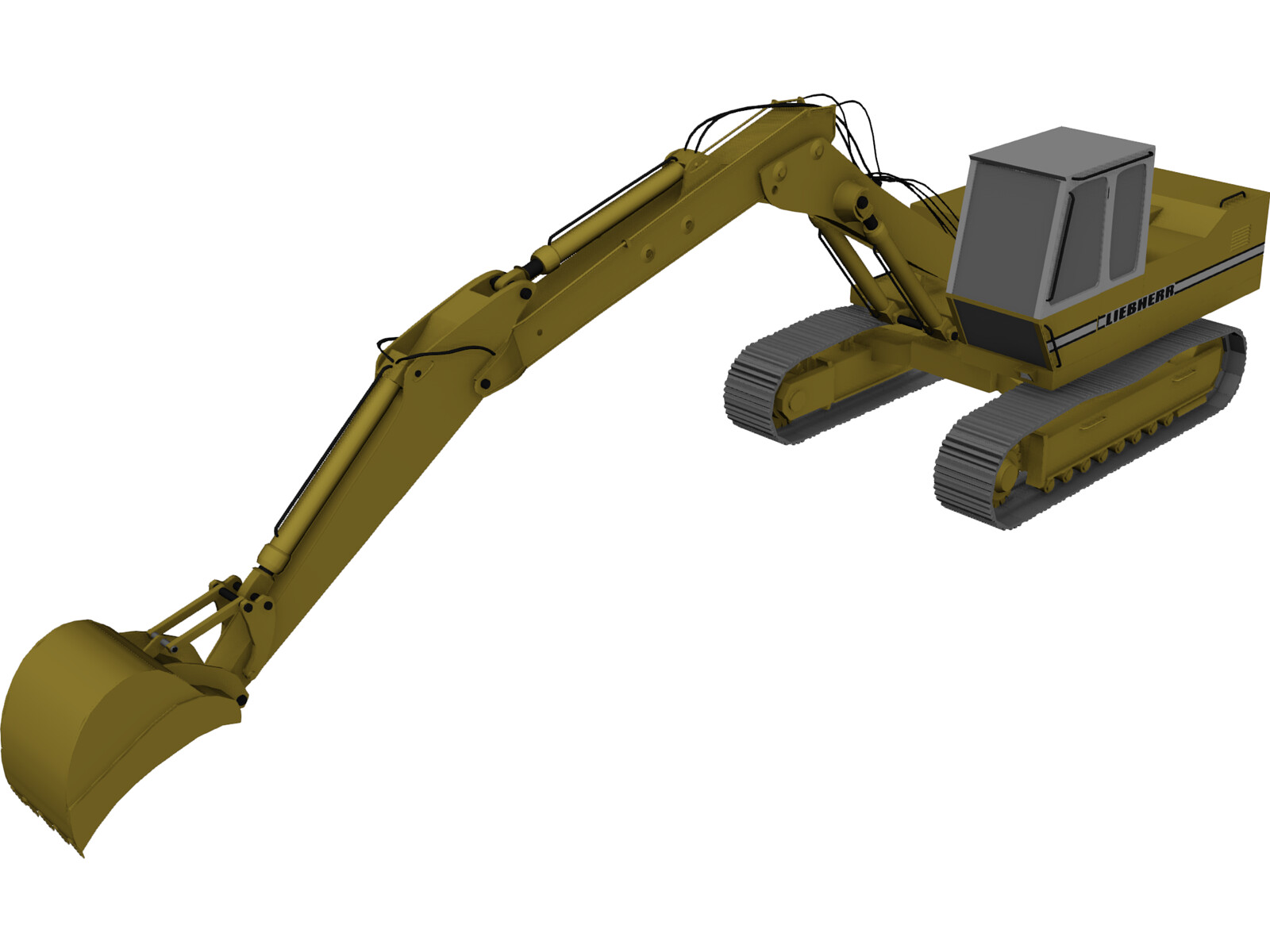 Liebherr Hydraulic Bagger 3d Model 3d Cad Browser