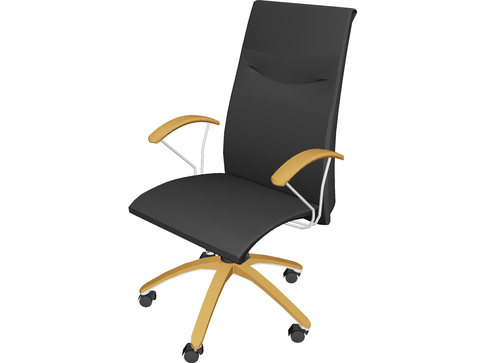 Chair oxford secretary 3d model 3d cad browser for Chair 3d model maya