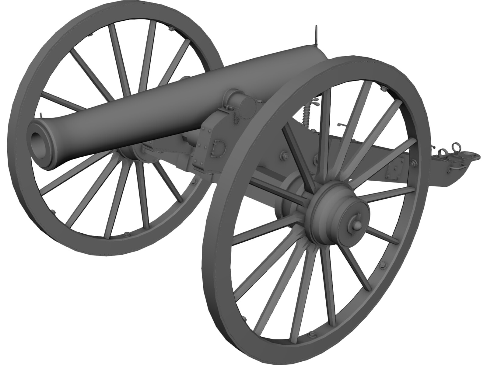 Napolean Cannon 3D Model