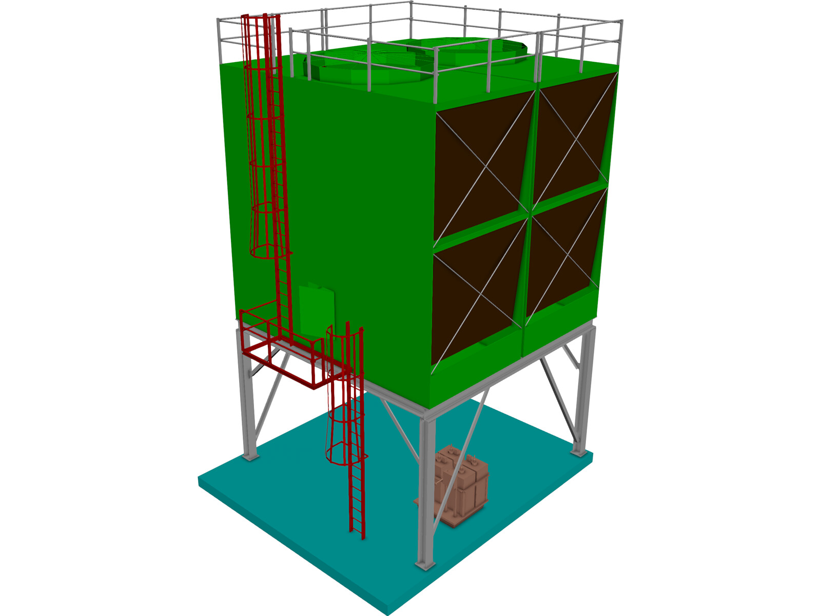 Cooling Tower Model Cooling Tower 3d Model