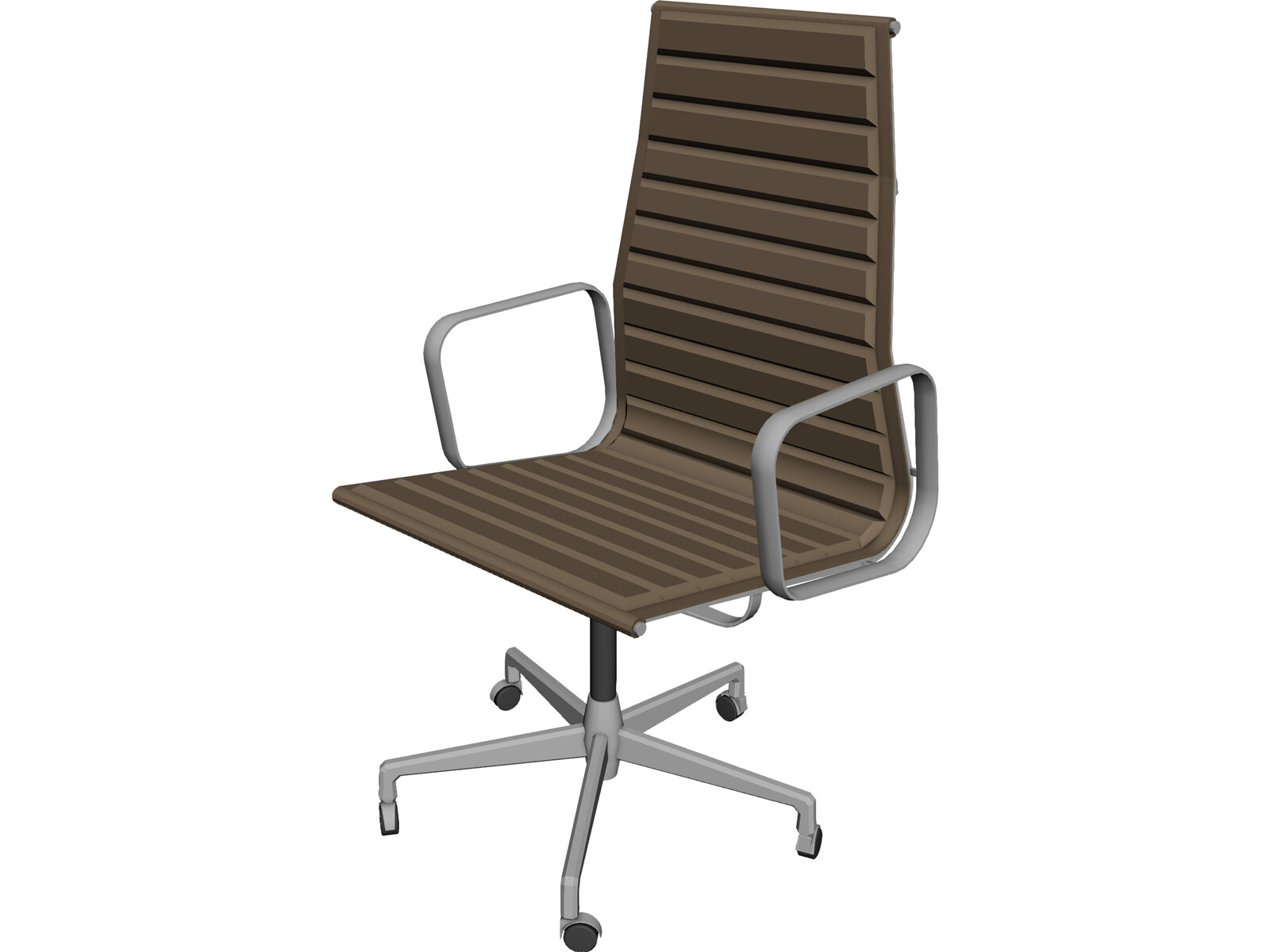 Chair charles eames 3d model 3d cad browser for Chair 3d model maya