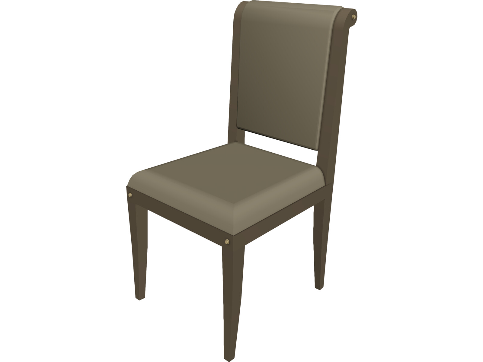 Chair classic 3d model 3d cad browser for Chair 3d model maya