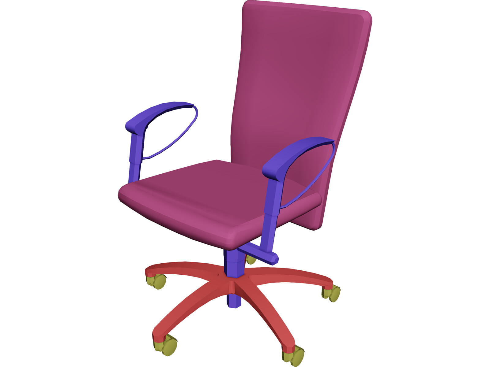 Chair arms task 3d model 3d cad browser for Chair 3d model maya