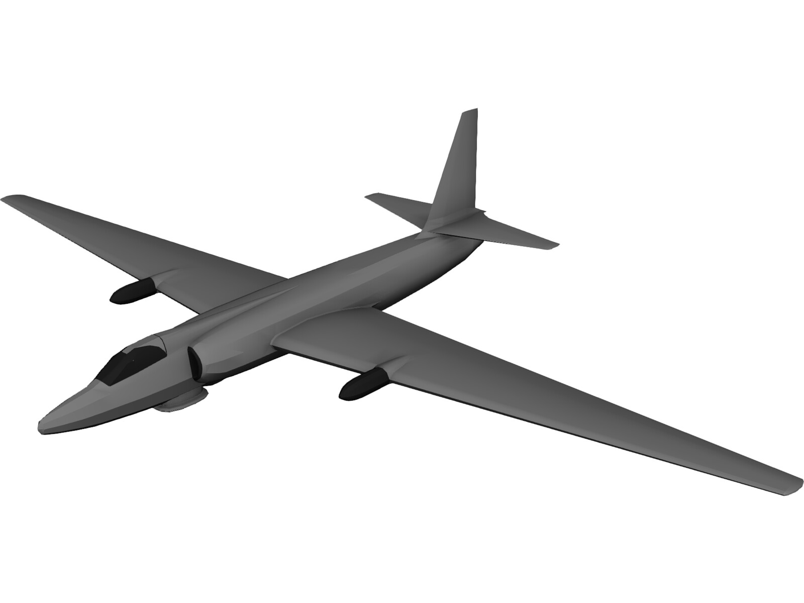 Lockheed U-2 Dragon Lady 3D Model