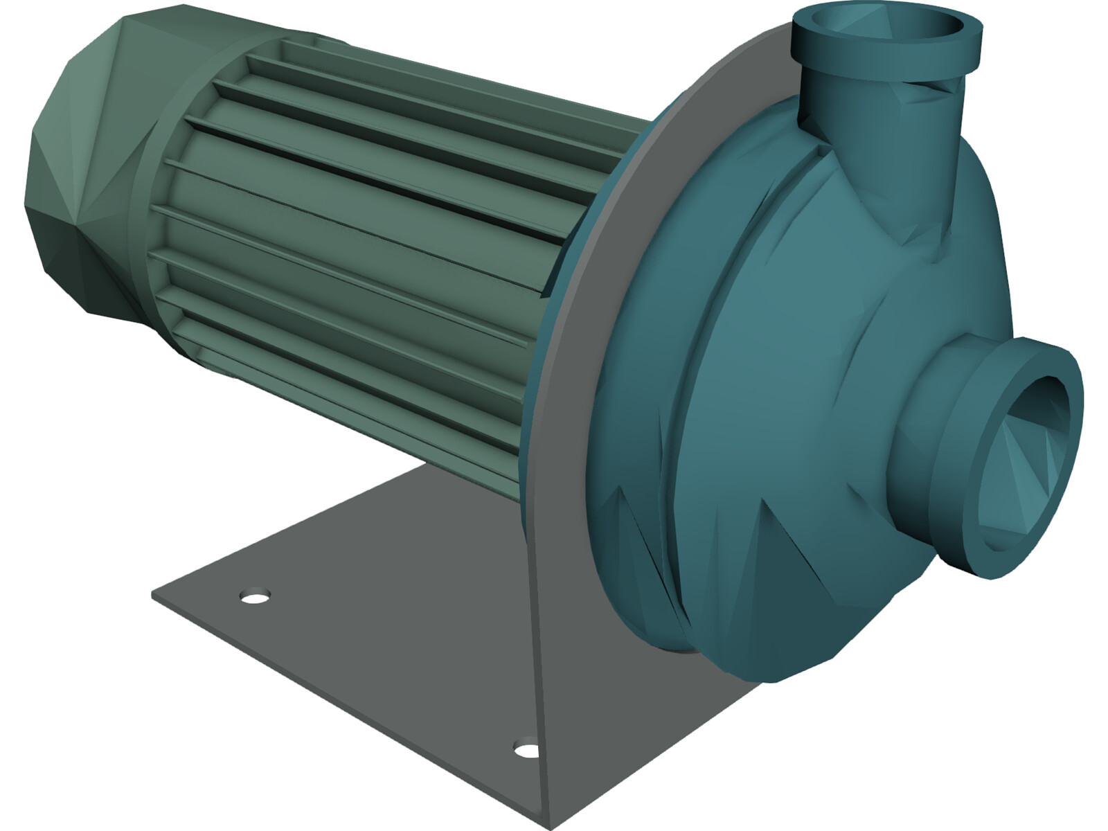 Water Pump 3d Model Electric Pump 3d Model