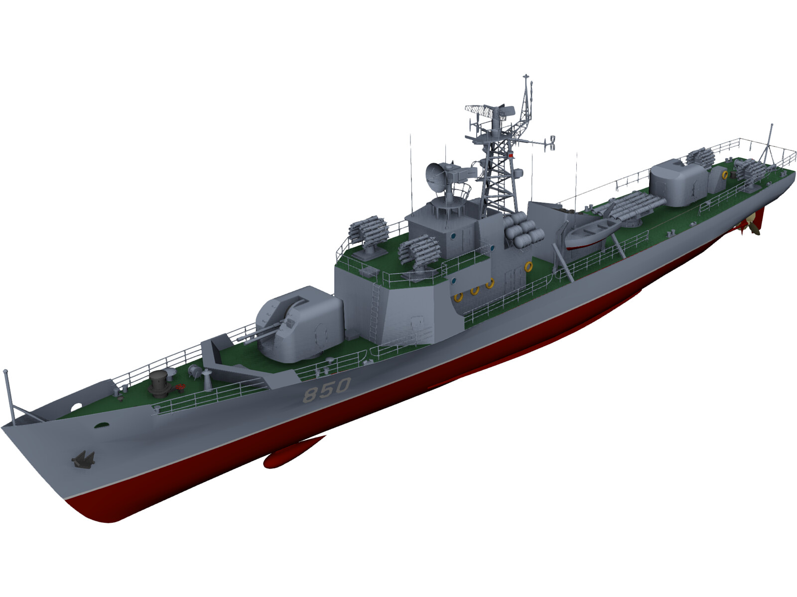Type 037 Class Submarine Chaser 3D Model