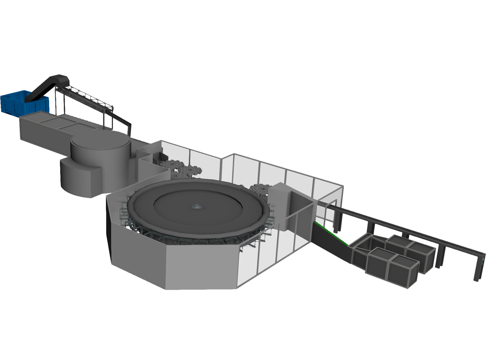 Mineral Water Filling Machine 3D Model