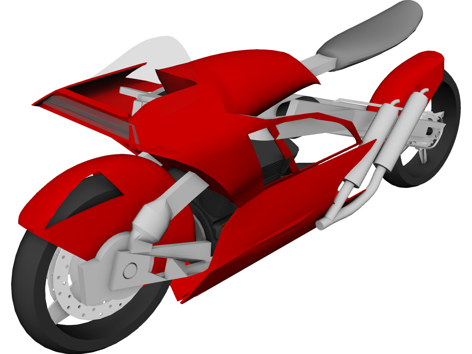 Electric Motorcycle Concept 3D Model